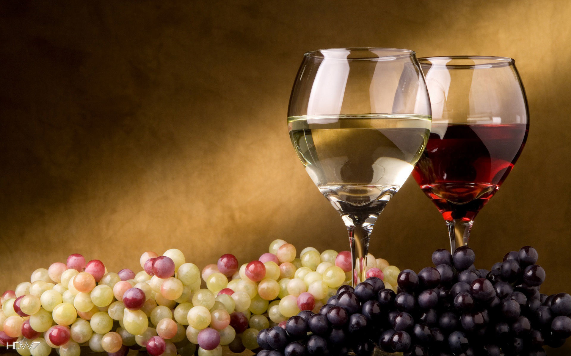 Res: 1920x1200, red and white wine and grapes wallpaper