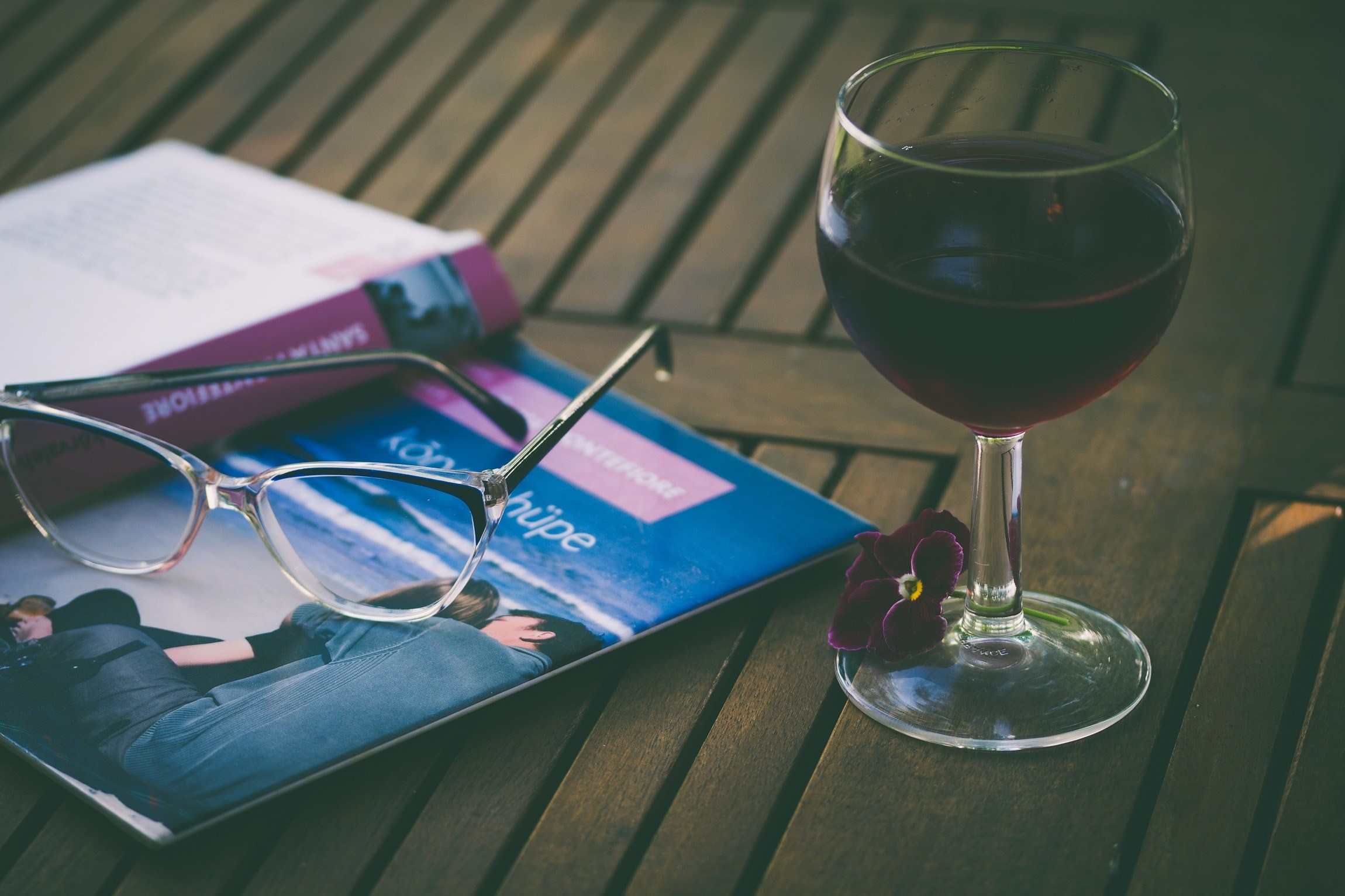 Res: 2300x1533, # a glass of red wine on the table along with a pair of eyeglasses  and a book enjoying a book with a glass of wine wallpaper and background  #10660