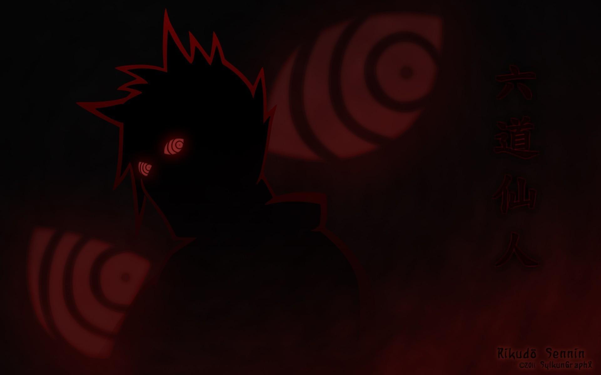 Res: 1920x1200, Naruto Shippuden Rikudo sennin Rinnegan Augen Silhouetten wallpaper