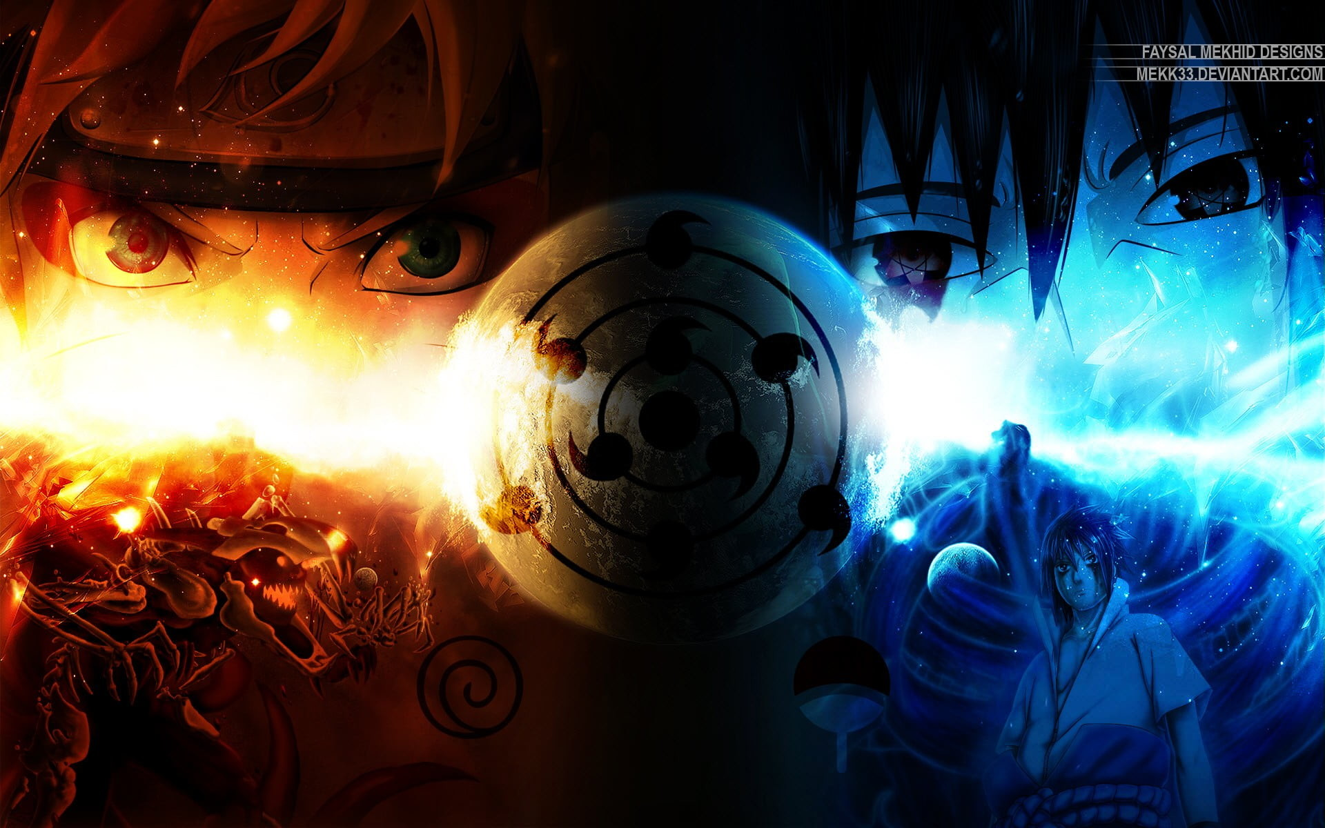 Res: 1920x1200, two anime character illustration, Naruto Shippuuden, anime, Uzumaki Naruto,  Rinnegan HD wallpaper