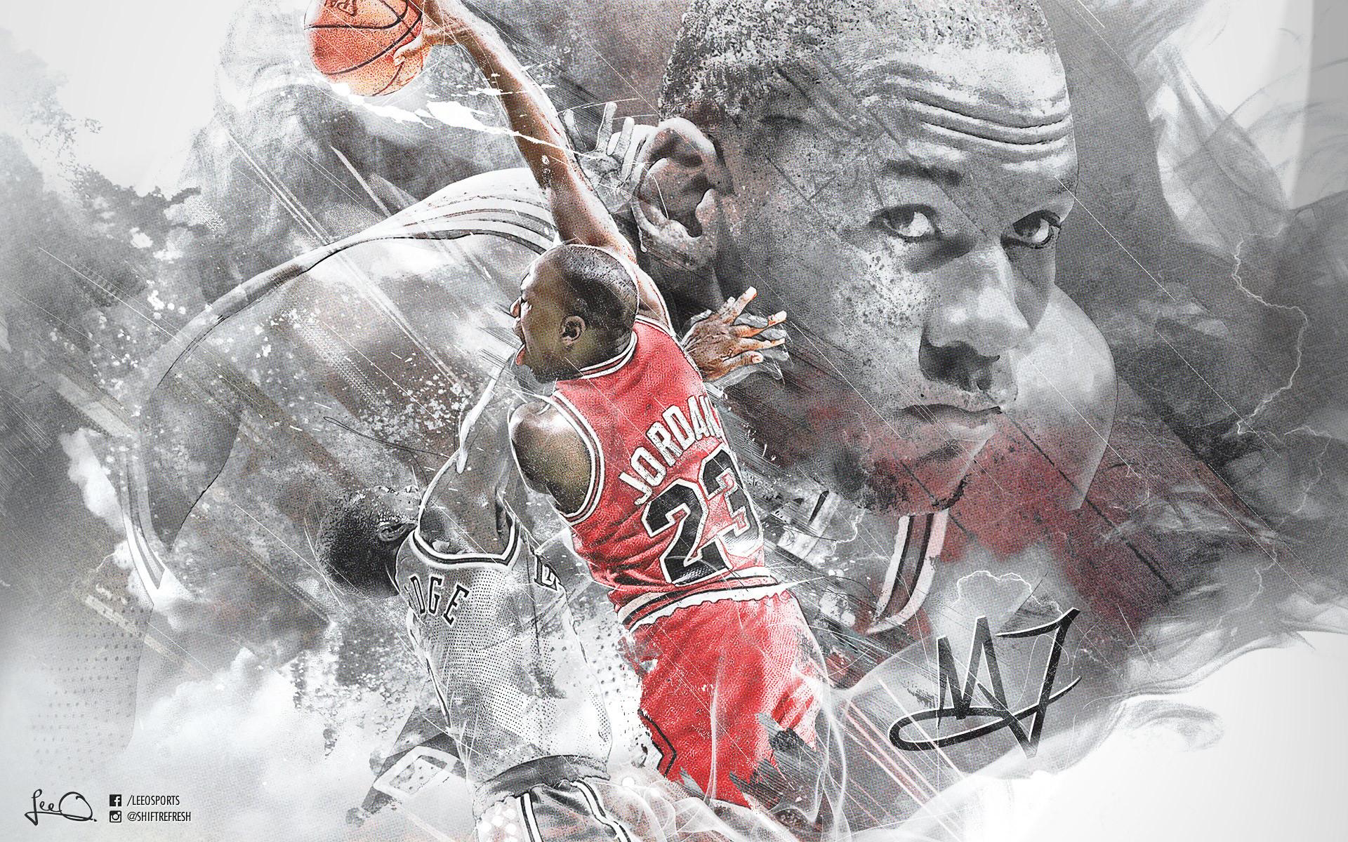 Res: 1920x1200, Michael Jordan 1920×1200 Dunk Wallpaper