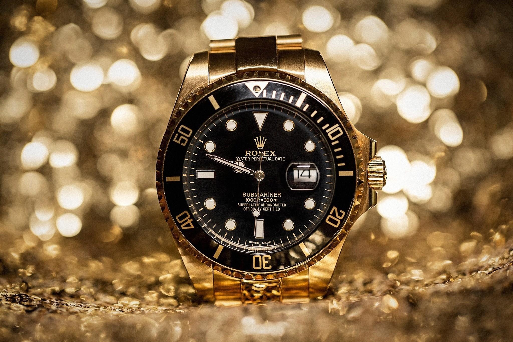 Res: 2048x1365, Rolex Golden Watch Wallpaper 11688