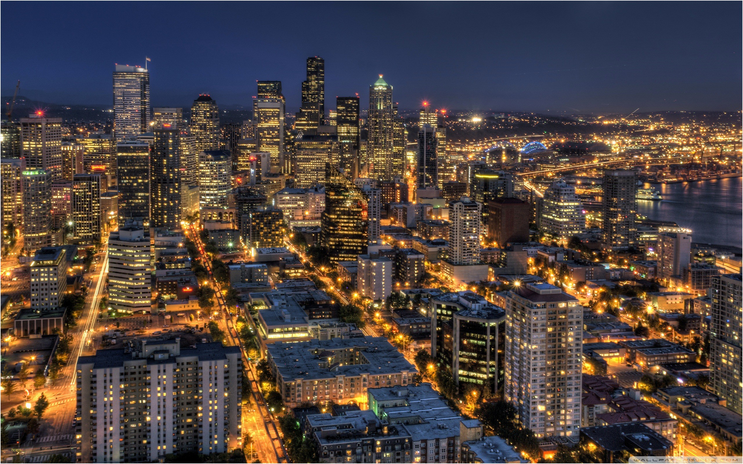Res: 2560x1600, Seattle Skyline Wallpaper Lovely Seattle City View Wallpapers