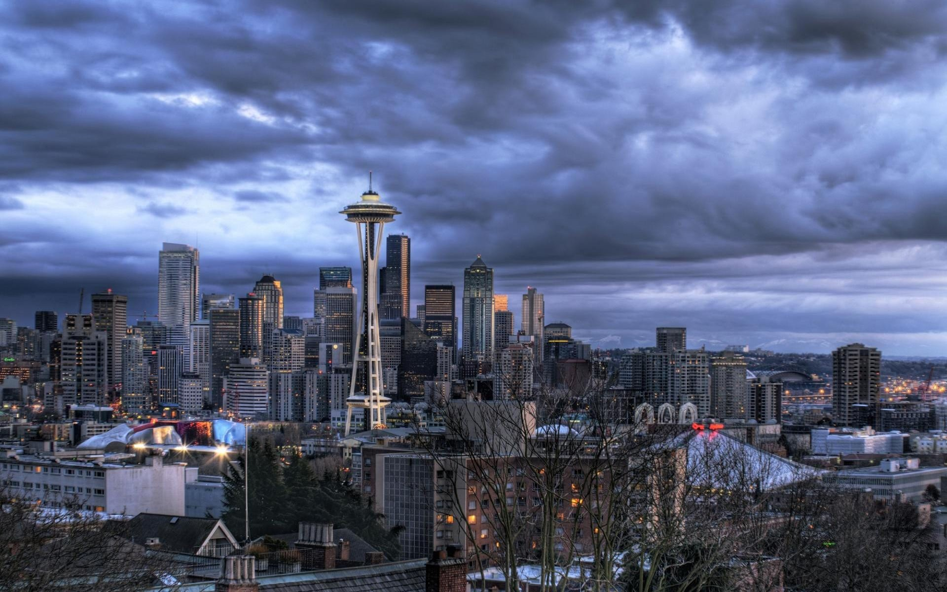 Res: 1920x1200, HD Seattle Skyline Wallpapers