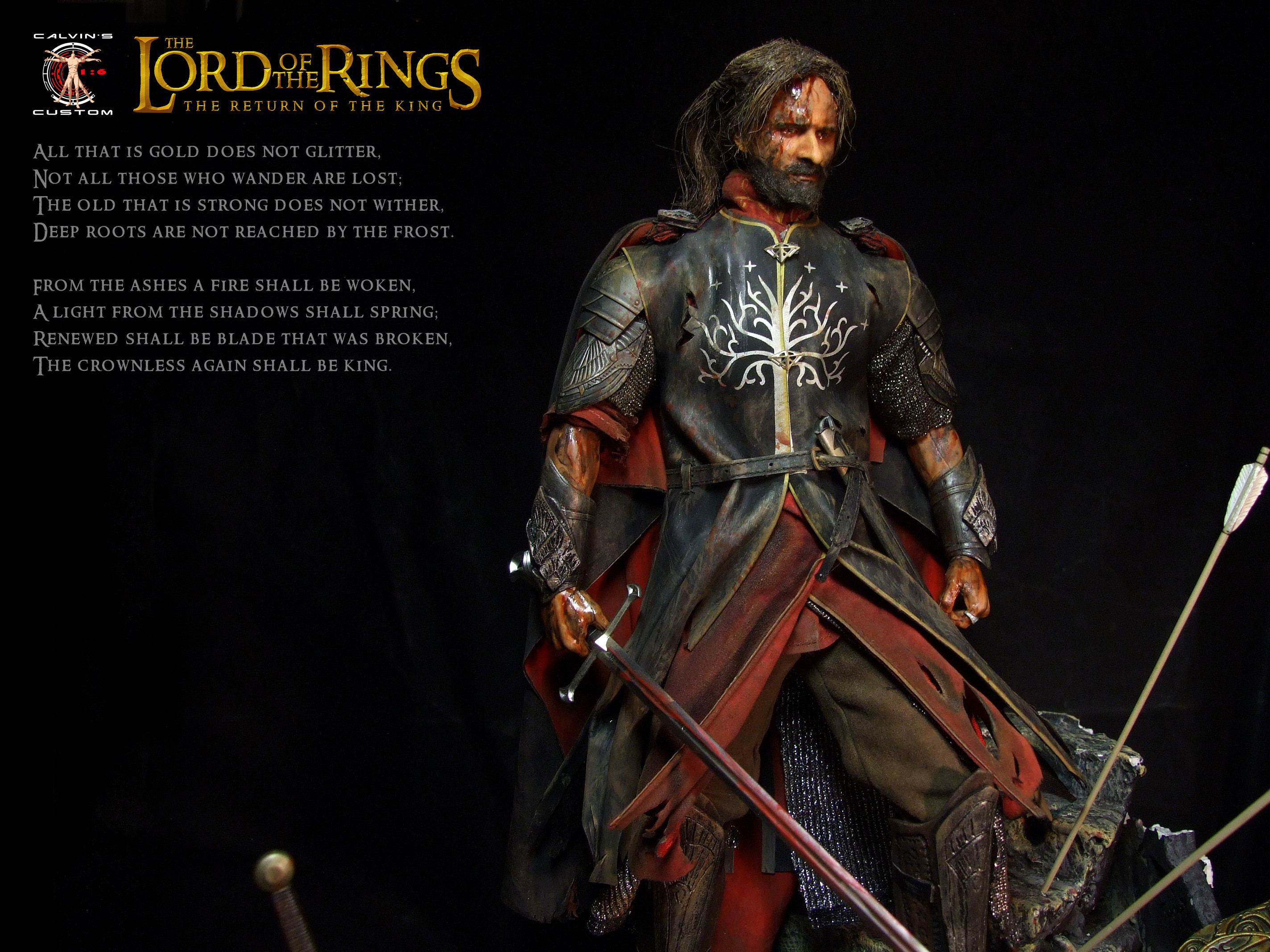 Res: 2848x2136, Lord of the Rings images Calvin's Custom 1:6 one sixth scale custom The  Lord of the Rings Aragorn as King of Gondor in the fi HD wallpaper and  background ...