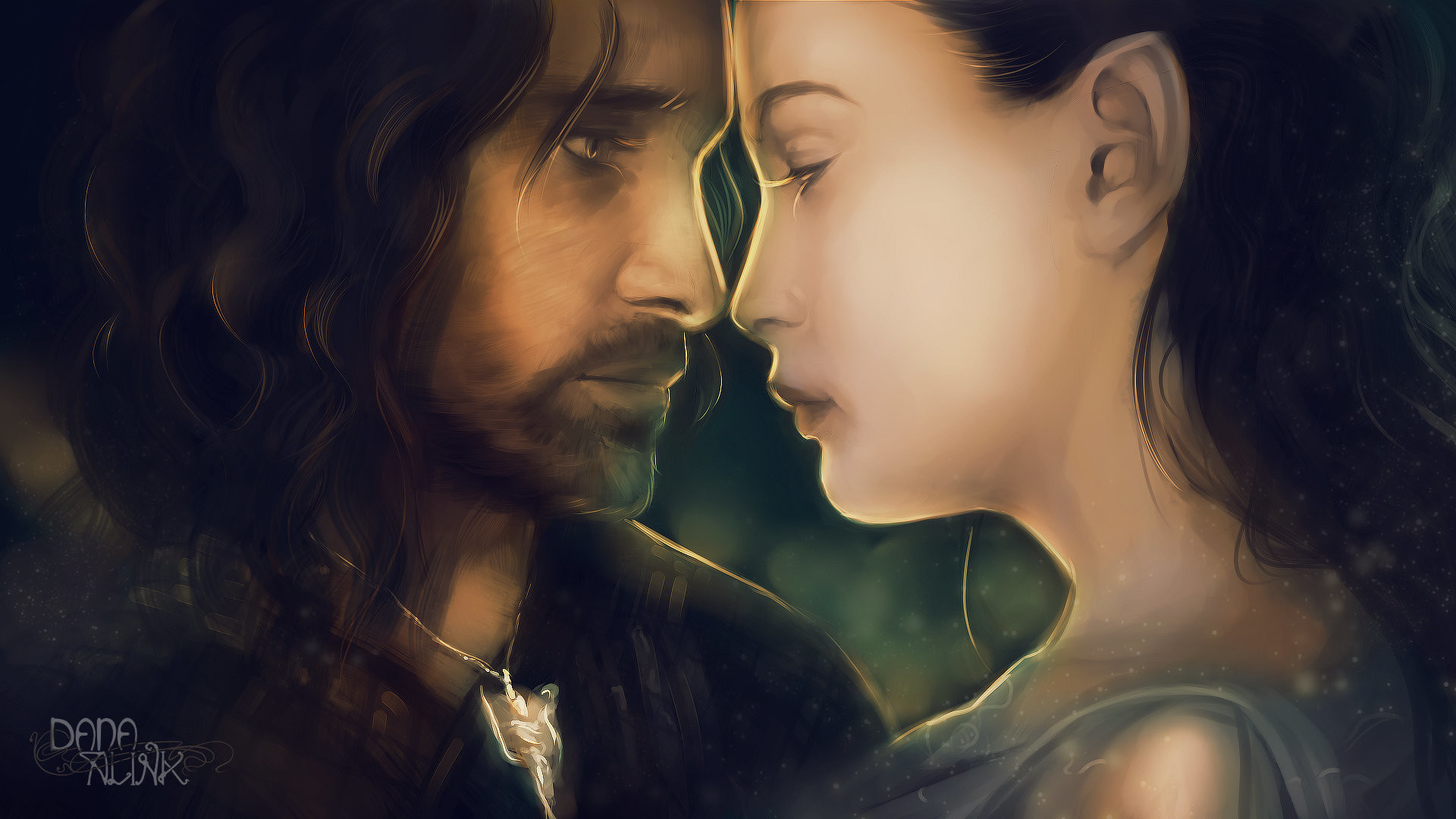 Res: 1920x1080, Fan-art Friday: Aragorn and Arwen