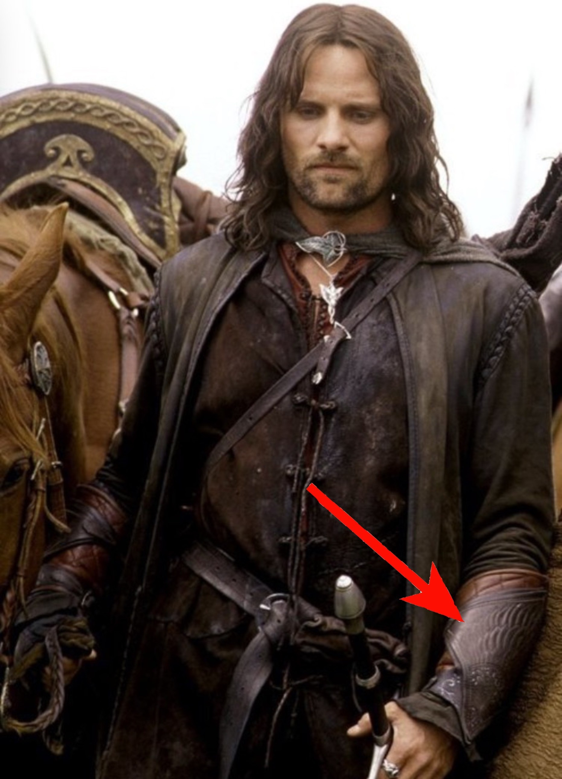 Res: 1861x2578, Never realized that after Boromir's death, Aragorn wears his bracers, no  characters even mention it.