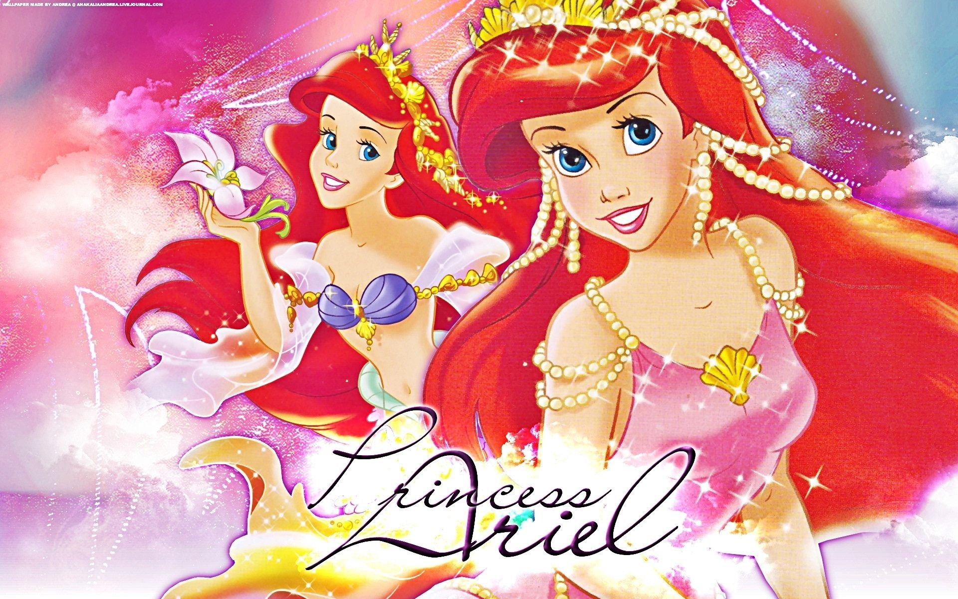 Res: 1920x1200, Walt, Disney, Wallpapers, Princess, Ariel, Walt, Disney, Characters, High,  Resolution, Free, Desktop, Background, High Resolution Images, Display,  Wallpaper ...