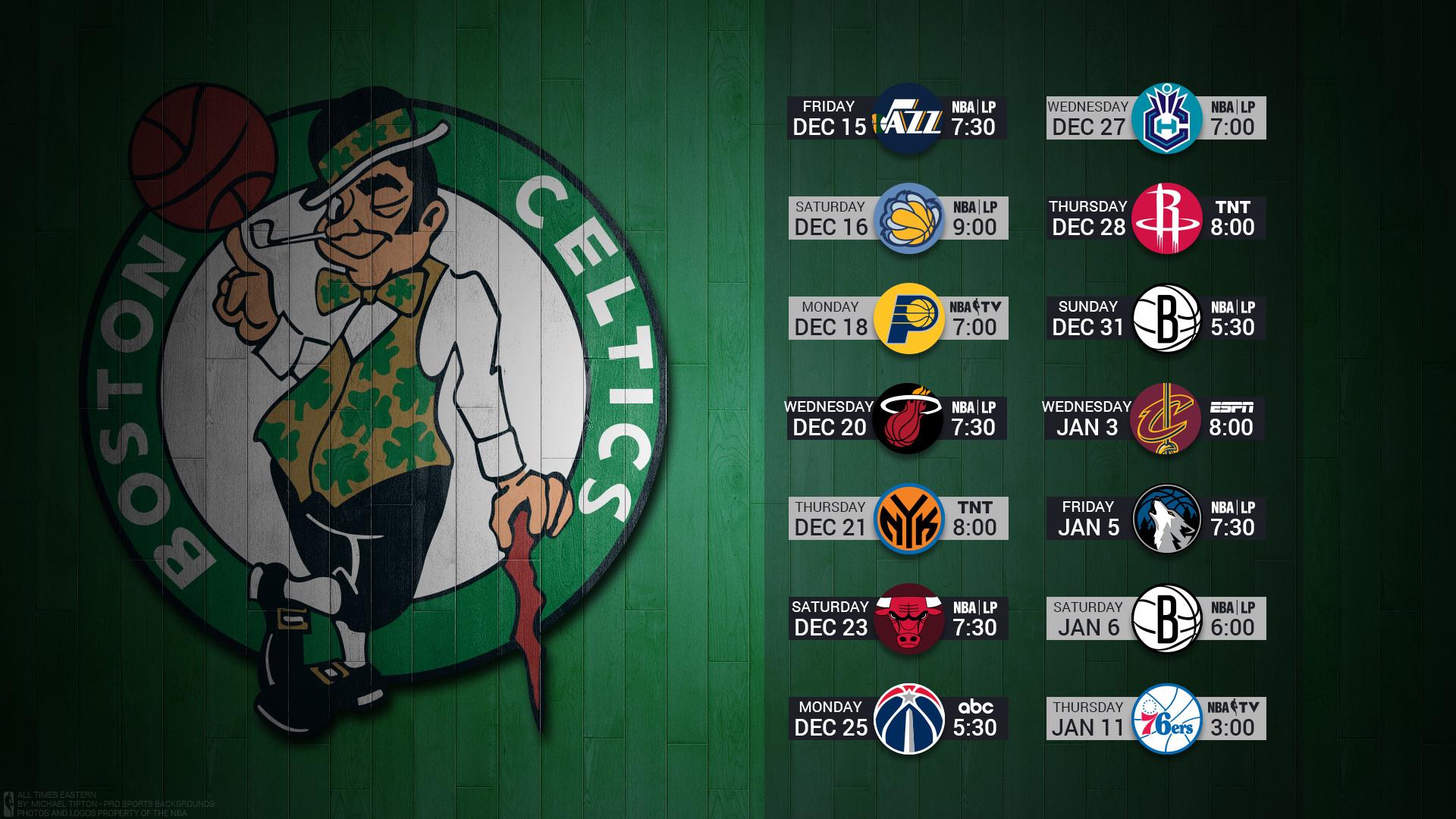 Res: 1920x1080, Boston Celtics 2017 nba basketball team logo december schedule hardwood  wallpaper free on mac and desktop