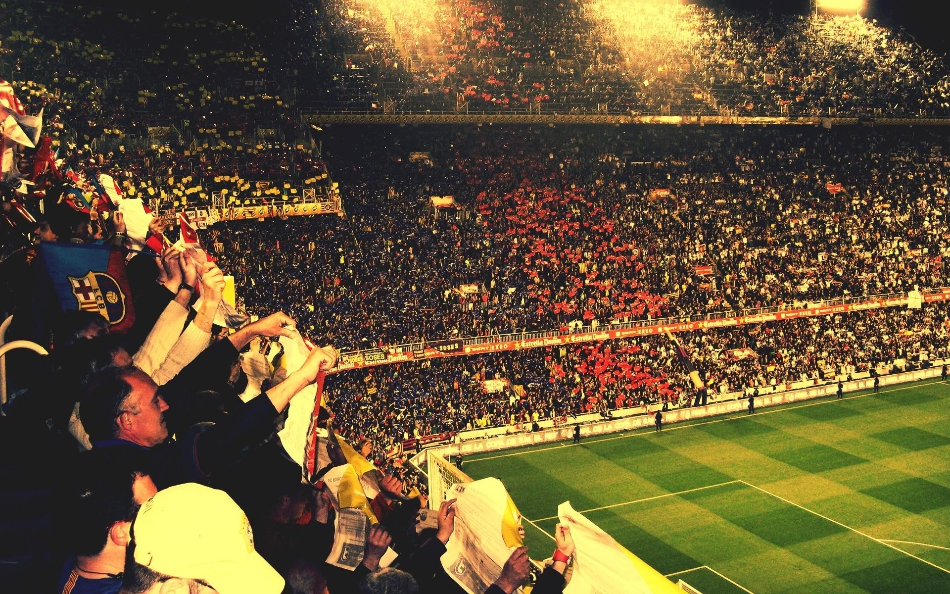 Res: 1920x1200, FC Barcelona soccer football crowd stadium people wallpaper |  |  31685 | WallpaperUP