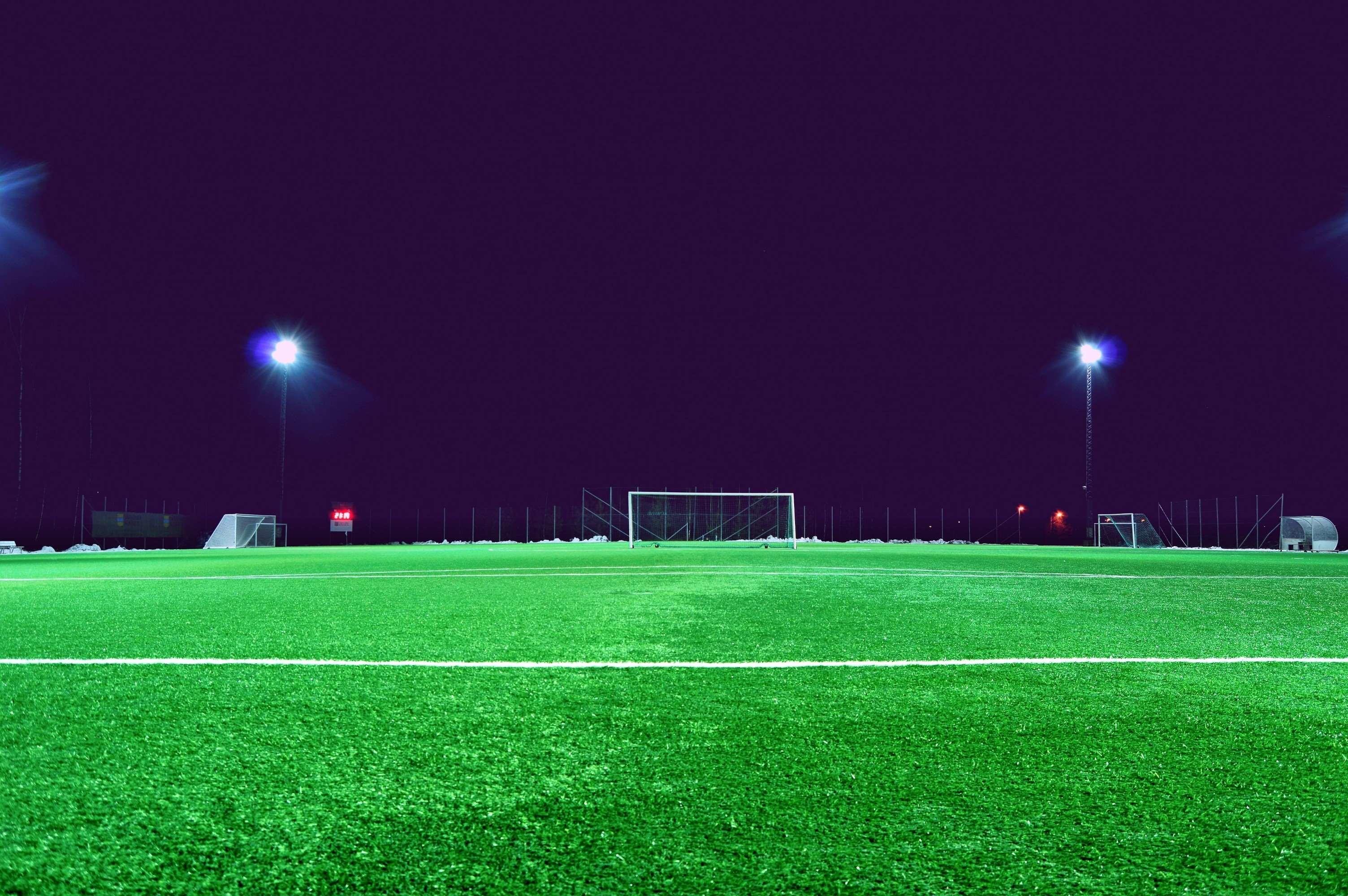 Res: 3008x2000, evening, field, football field, goal, grass, green, ground, lawn