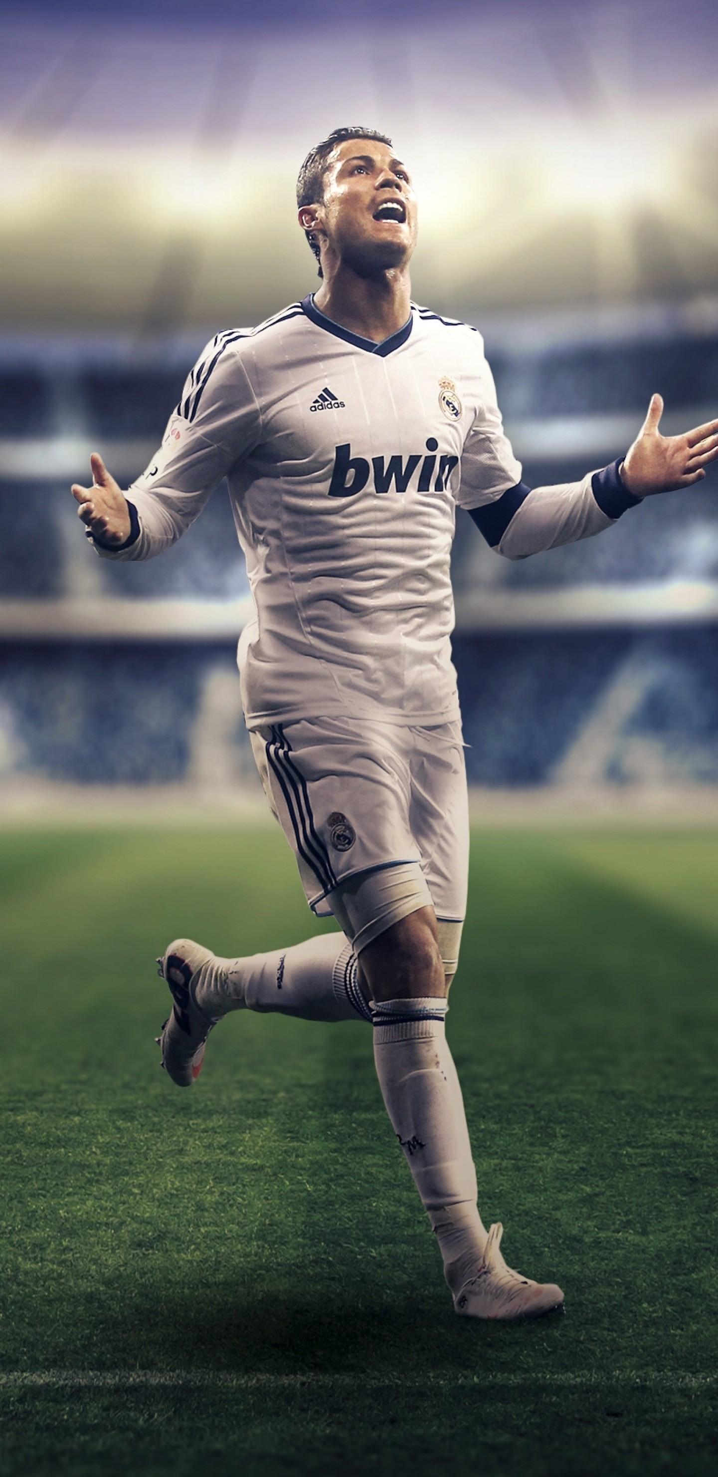 Res: 1440x2960, Cristiano Ronaldo, Football, Stadium