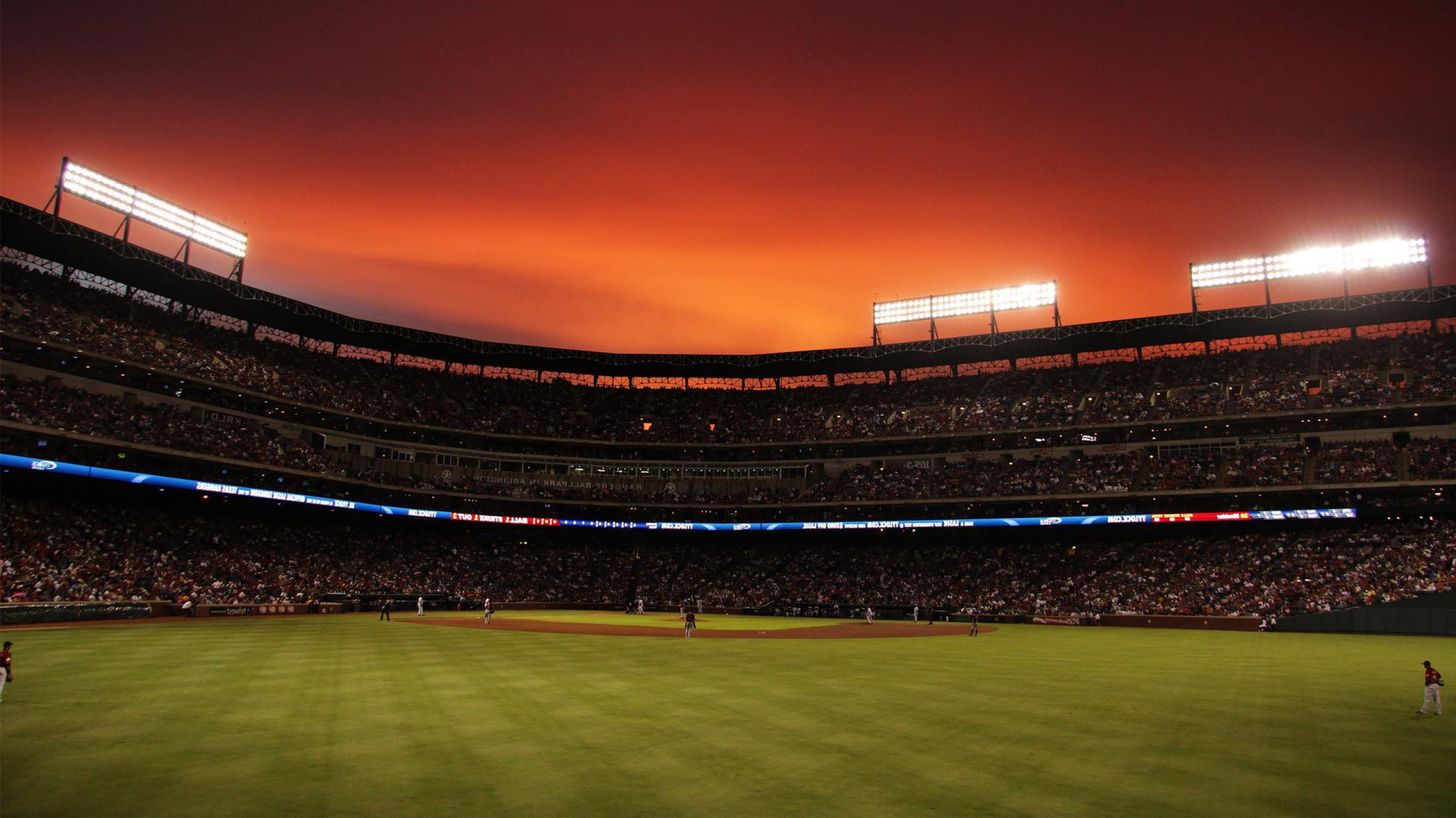 Res: 2560x1440, wallpaper baseball sports stadium