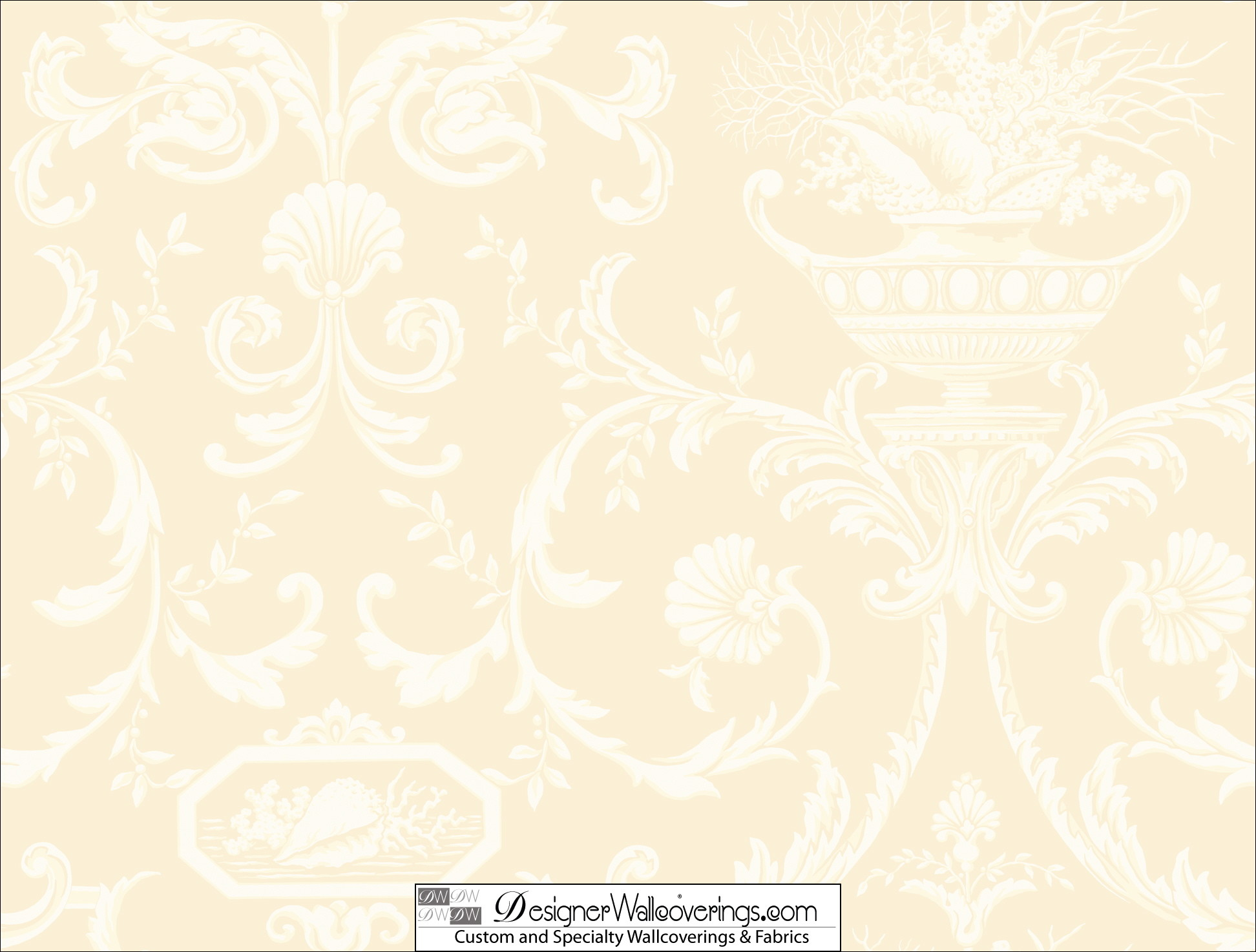 Res: 1944x1474, Cream Colored Damask Wallpaper