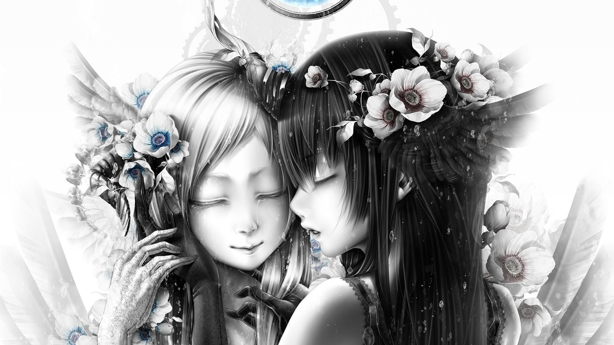 Res: 2048x1152,  Wallpaper bouno satoshi in tokyo otaku mode, bouno satoshi, girl,  anime,
