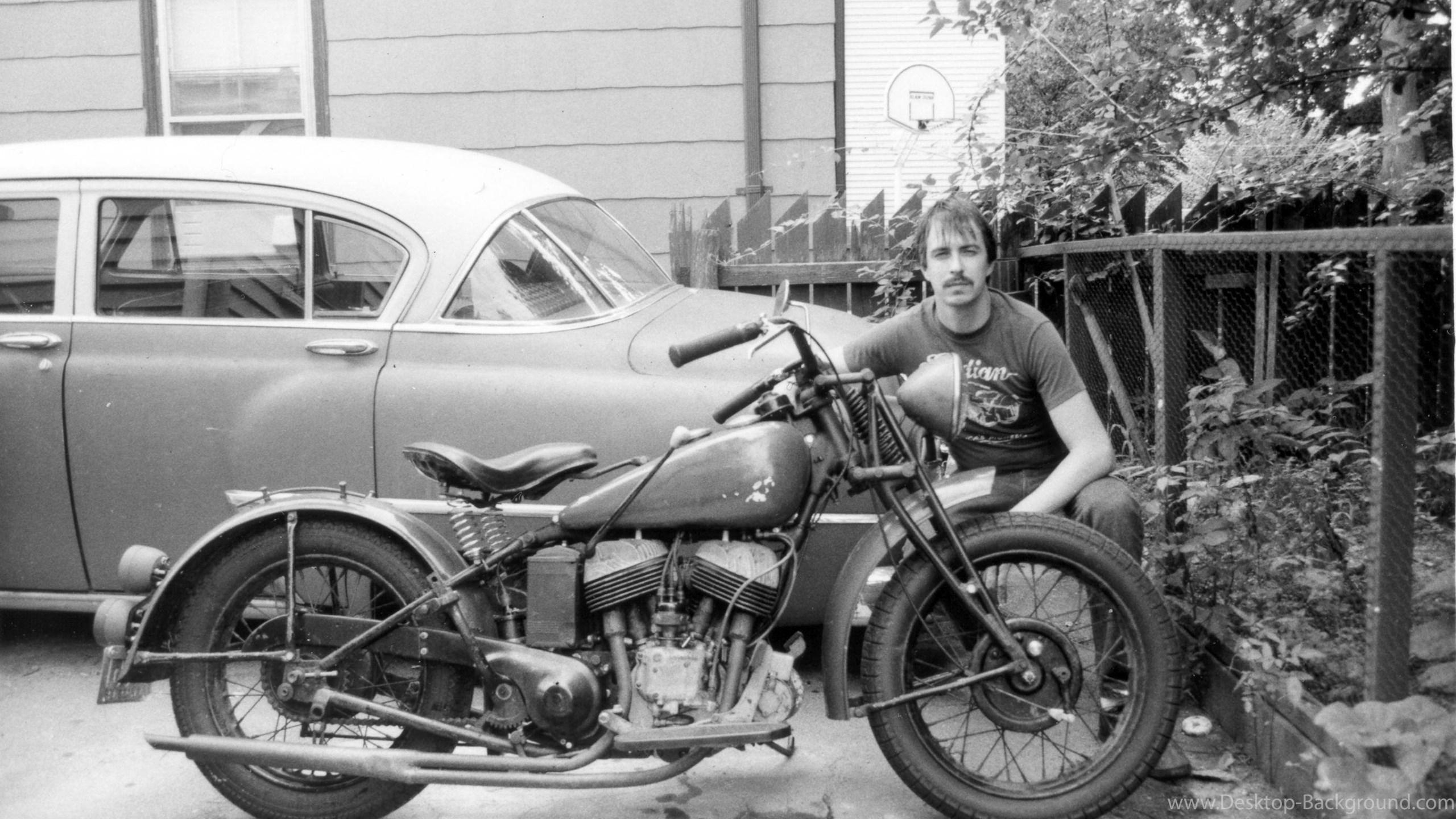 Res: 2560x1440, vintage motorcycle ...