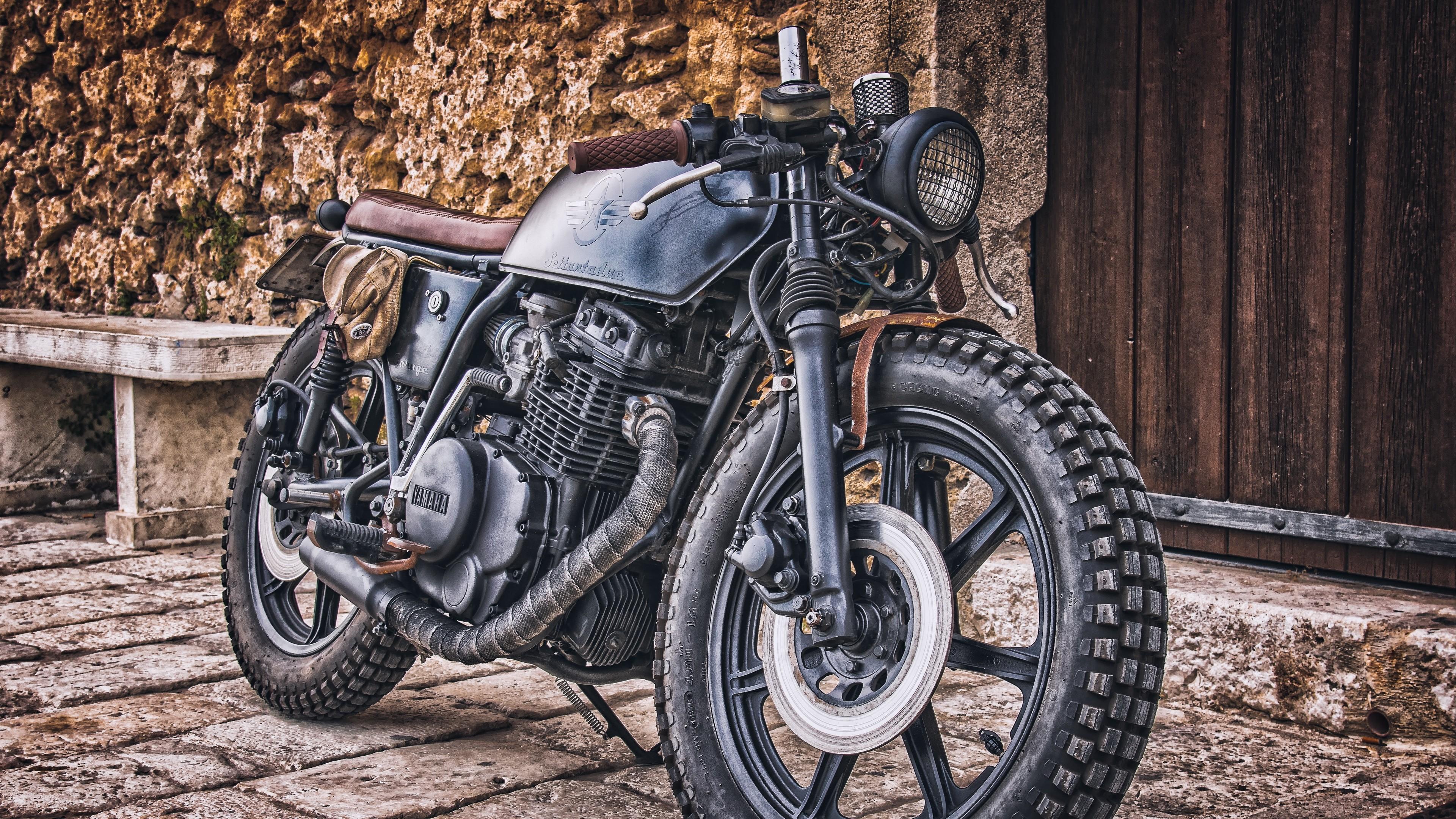 Res: 3840x2160, yamaha, motorcycle, cruiser, hdr 4k