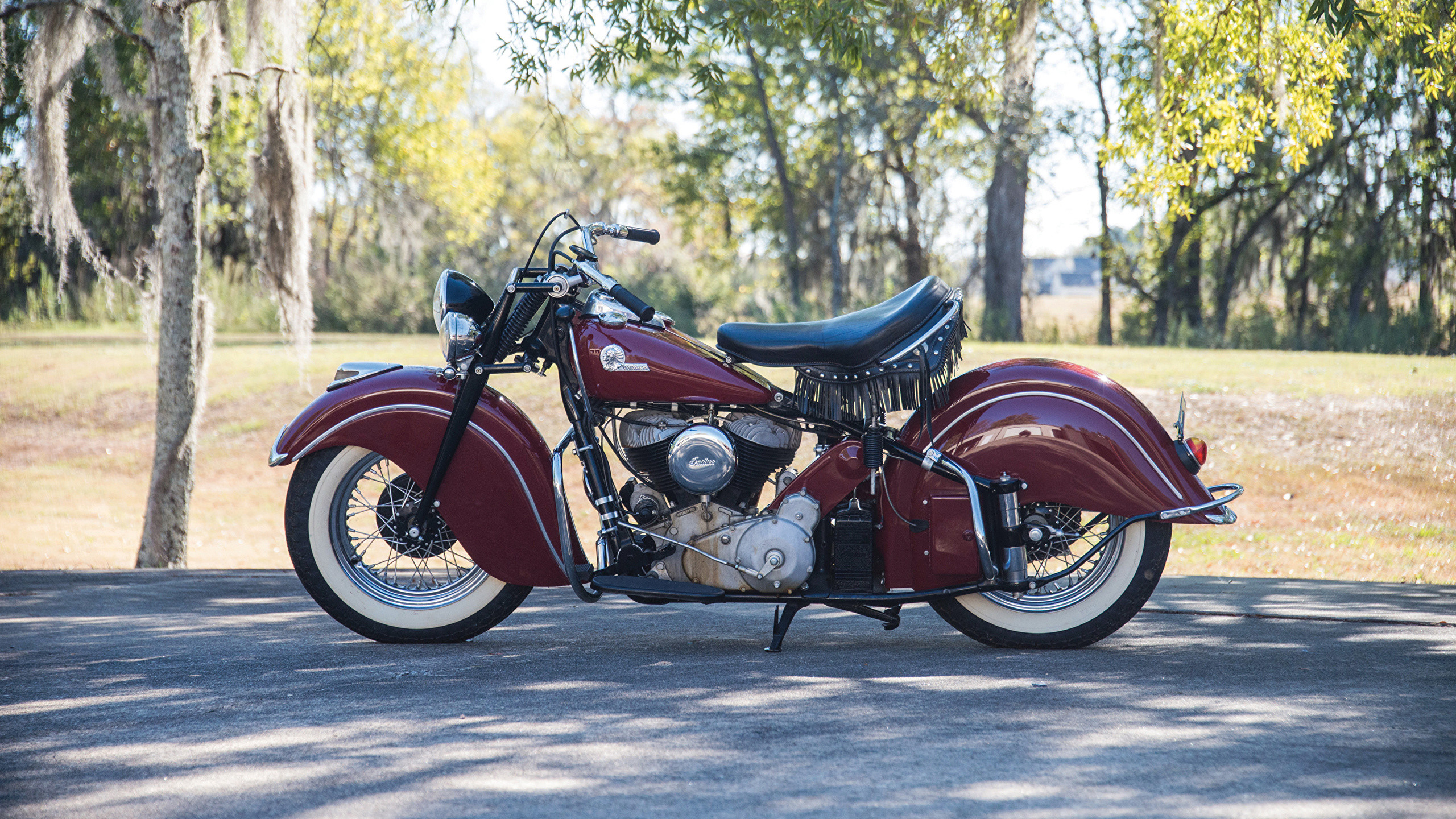Res: 2560x1440, Wallpaper 1946 Indian Chief Vintage Motorcycles Side  Retro antique
