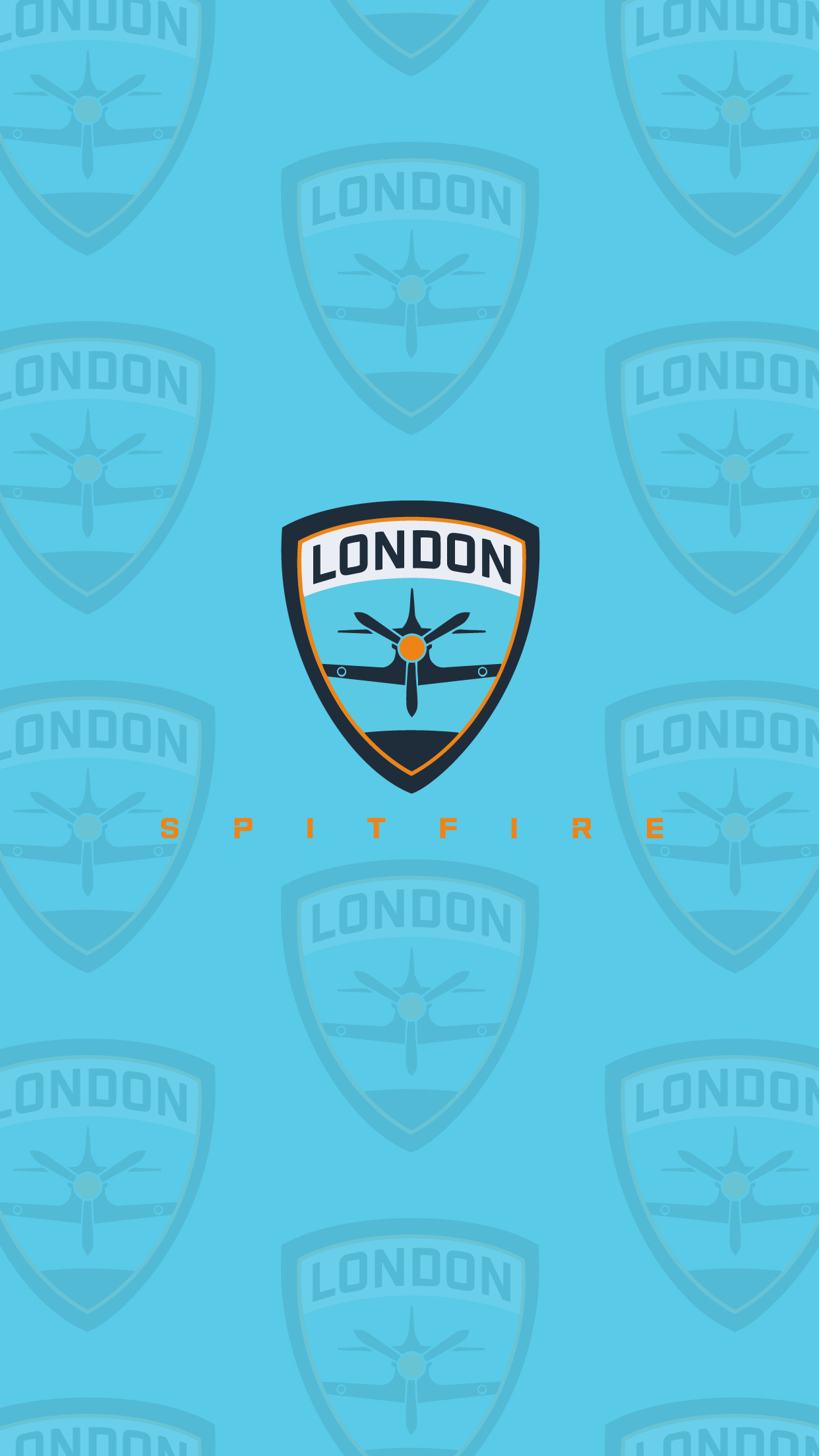 Res: 1242x2208, Overwatch League London Spitfire Phone Tiled Cyan Wallpaper  #OverwatchLeague #LondonSpitfire