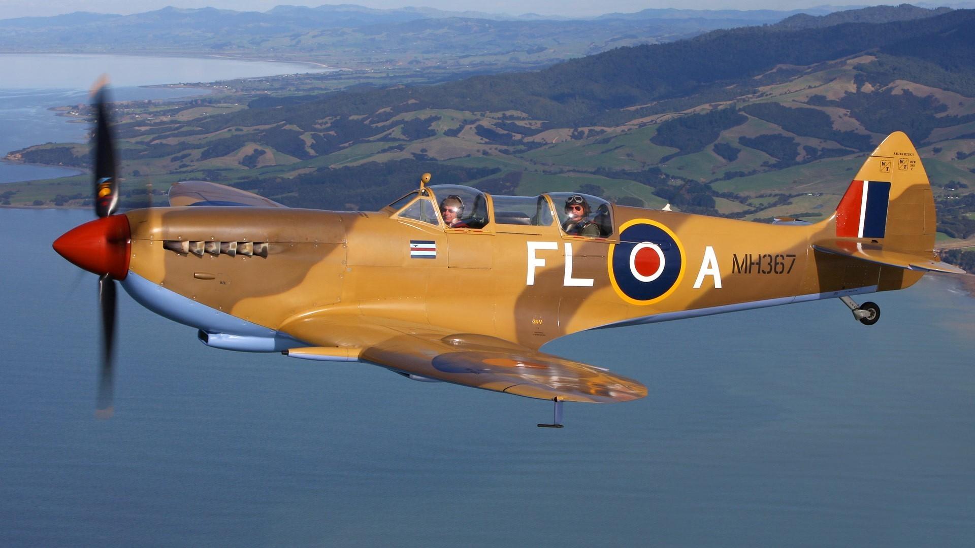 Res: 1920x1080, Airplanes warbird supermarine spitfire wallpaper