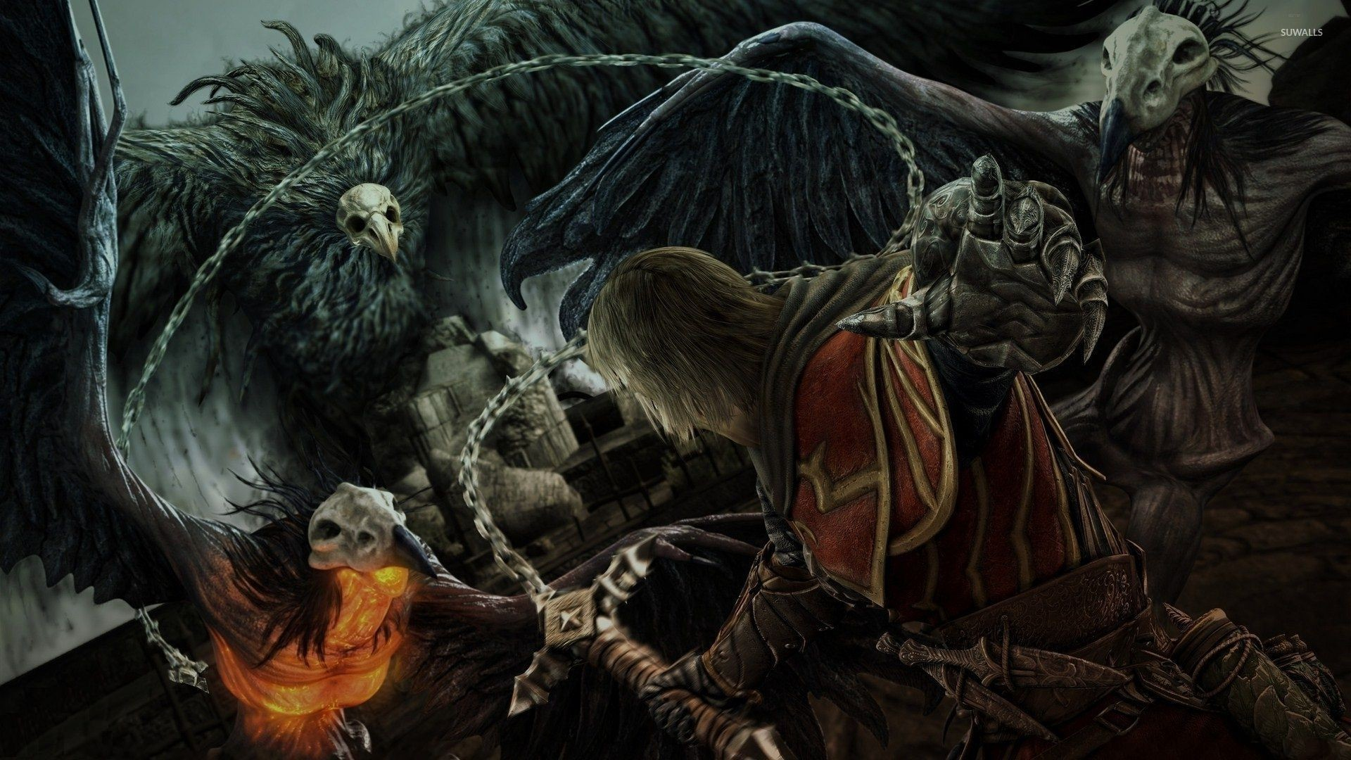 Res: 1920x1080, Weird creatures in Castlevania: Lords of Shadow wallpaper