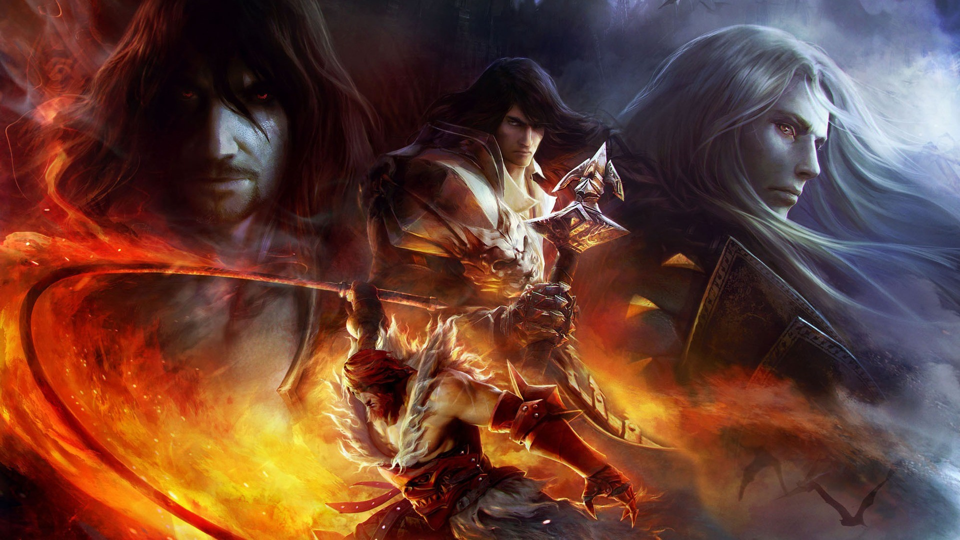 Res: 1920x1080,  Wallpaper castlevania, lords of shadow, mirror of fate, gabriel  belmont, dracula