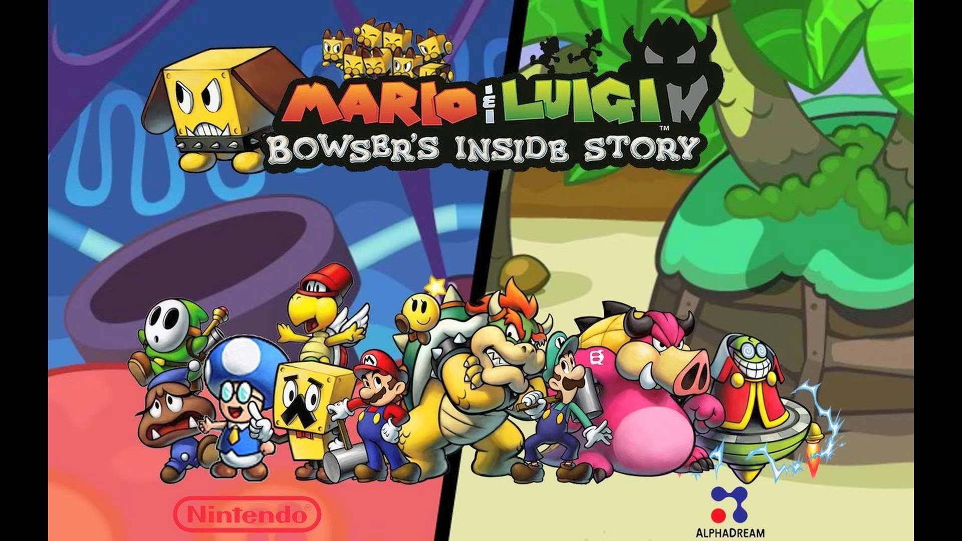 Res: 1920x1080, Mario & Luigi: Bowser's Inside Story HD Wallpaper HD