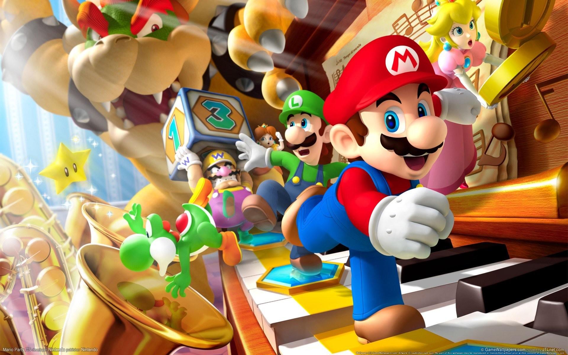Res: 1920x1200, bowser, Princess Peach, Super Mario, Mario Party, Nintendo, Luigi, Video  games, Peach HD Wallpapers / Desktop and Mobile Images & Photos