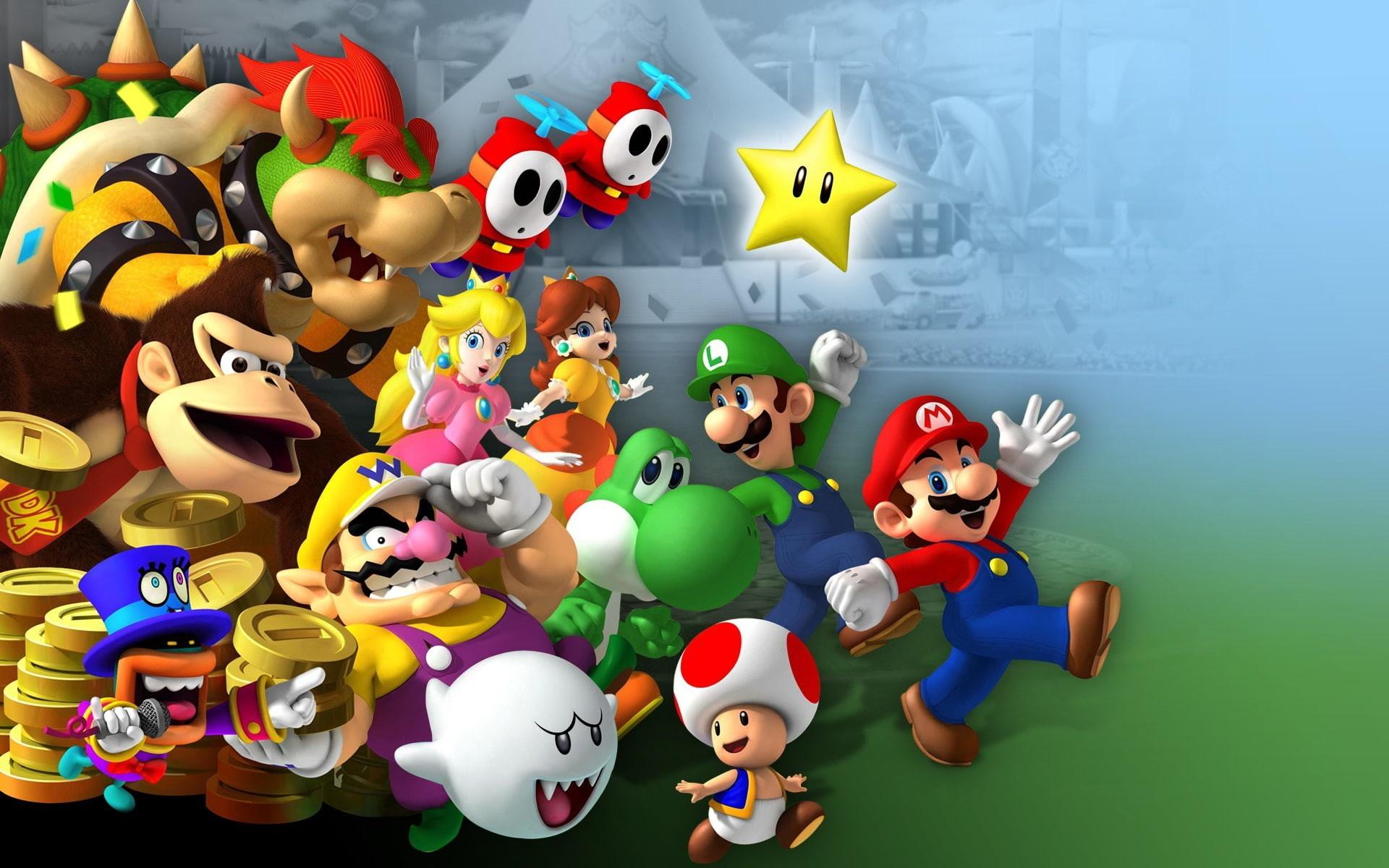 Res: 1920x1200, Mario, Mario Party 8, Boo (Super Mario), Bowser, Donkey Kong
