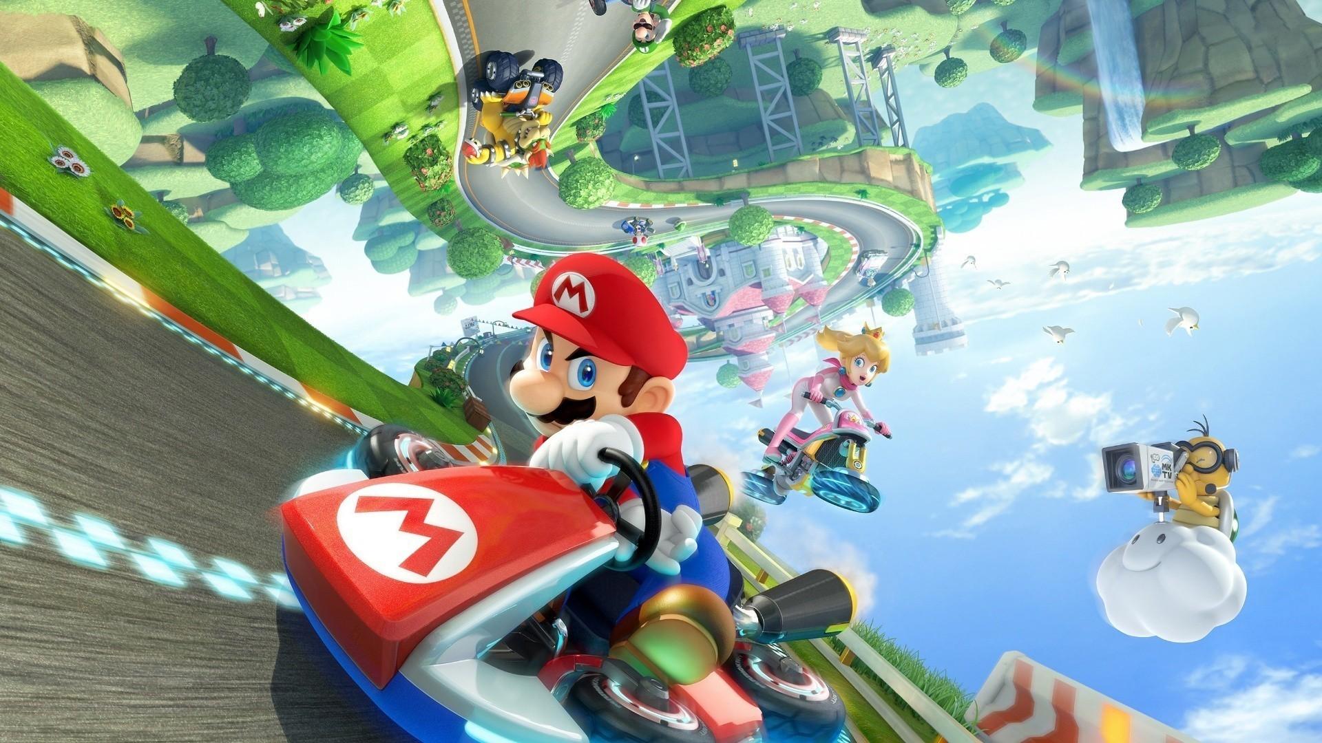 Res: 1920x1080, #Kart, #Princess Peach, #video games, #Mario Kart, #bowser, #Wii U,  #Nintendo, #Super Mario, wallpaper