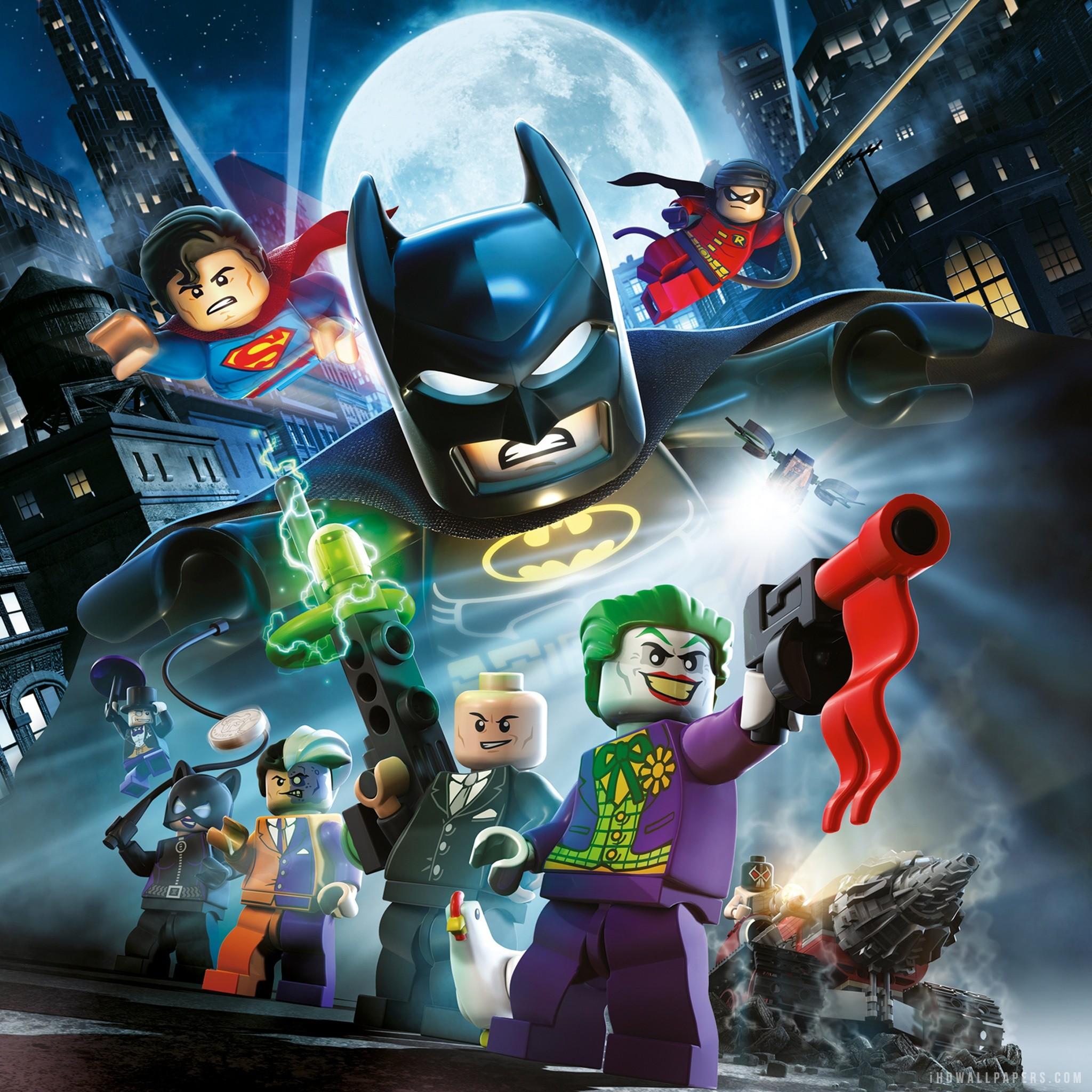 Res: 2048x2048, LEGO Batman The Movie DC Super Heroes Unite HD Wallpaper iHD