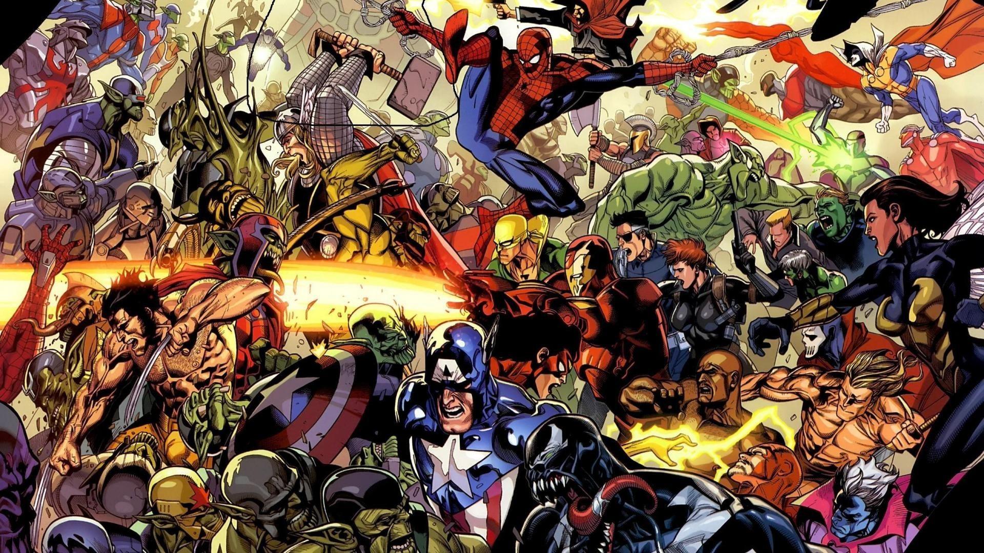 Res: 1920x1080, Res: , marvel superheroes HD Wallpaper - Marvel Wallpaper Comic Wallpaper  Superhero Wallpaper