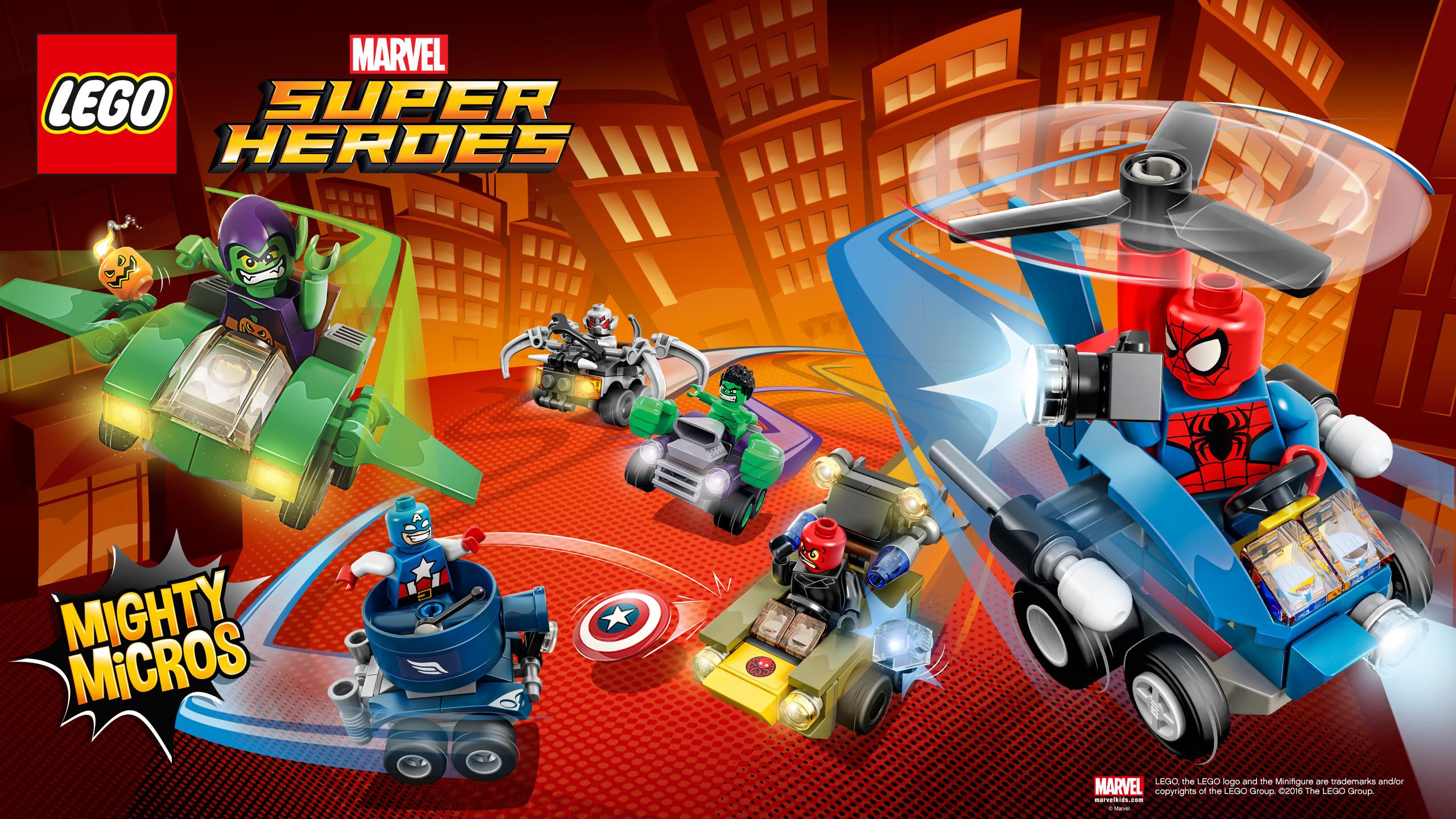 Res: 2560x1440, Marvel Mighty Micros. Brainiac Attack Wallpaper
