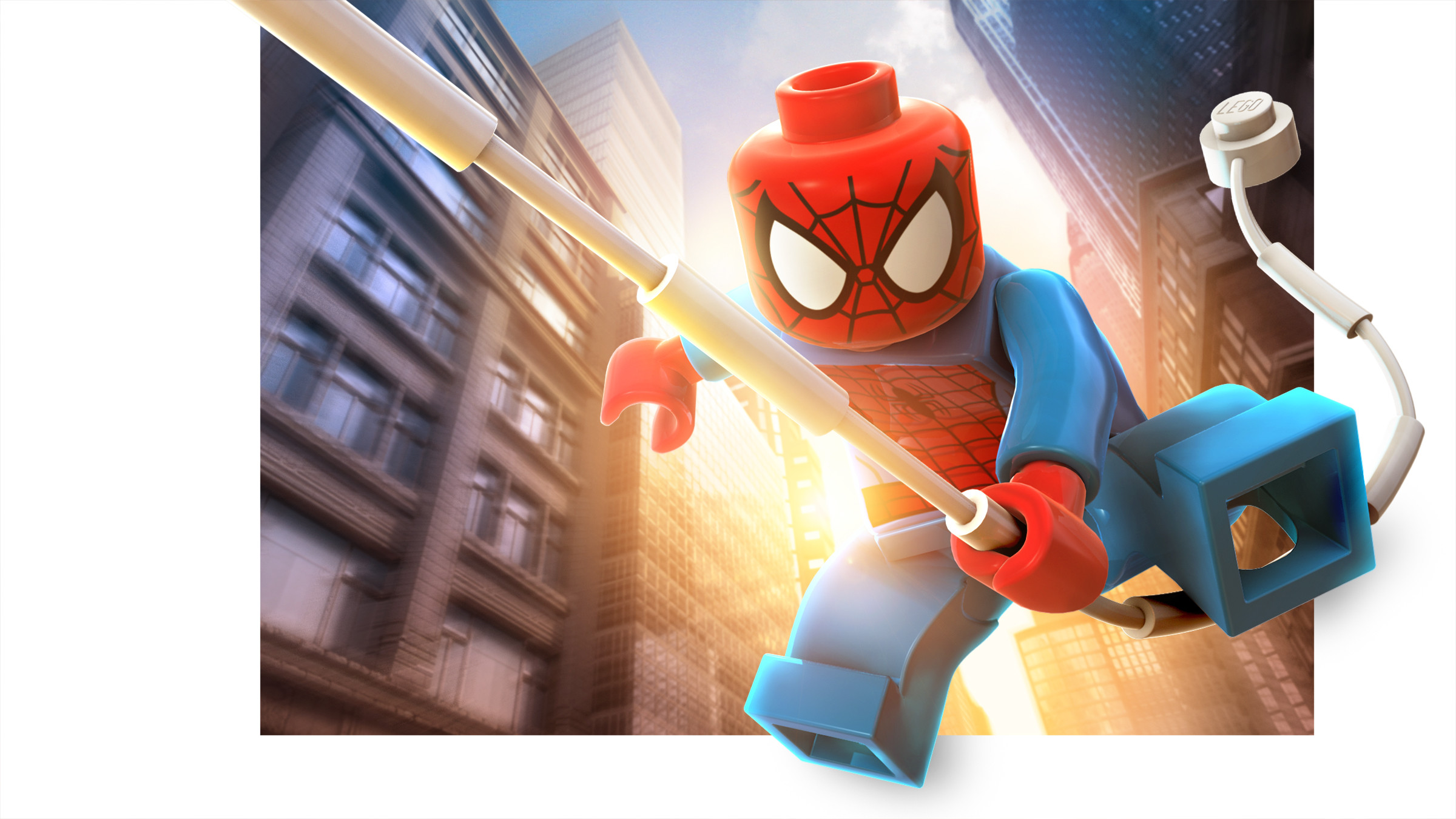Res: 2400x1350, Spider Man LEGO Marvel Super Heroes Render Just Push Start