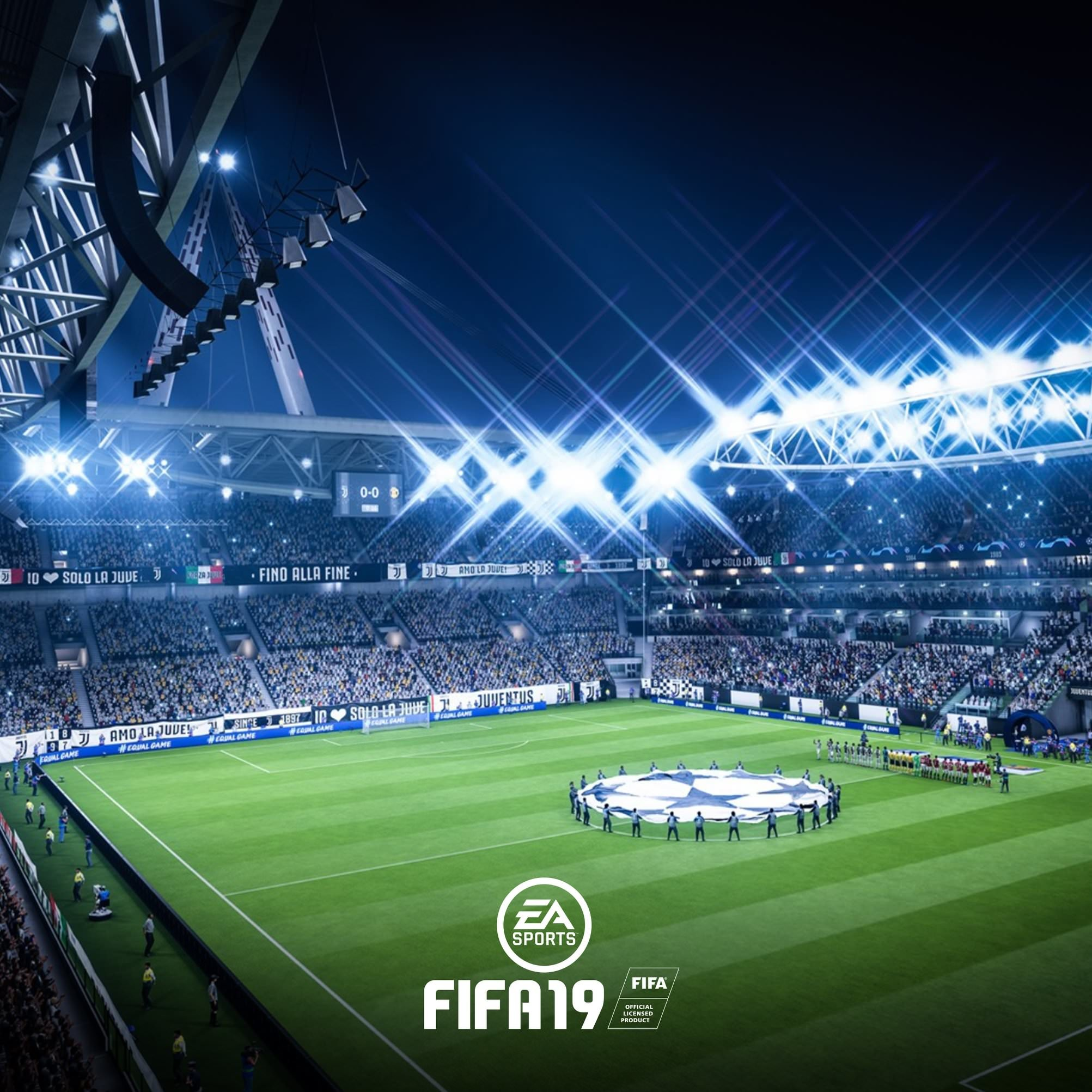 Res: 2005x2005, ... Download FIFA 19 Champions League Wallpaper for Tablet ...