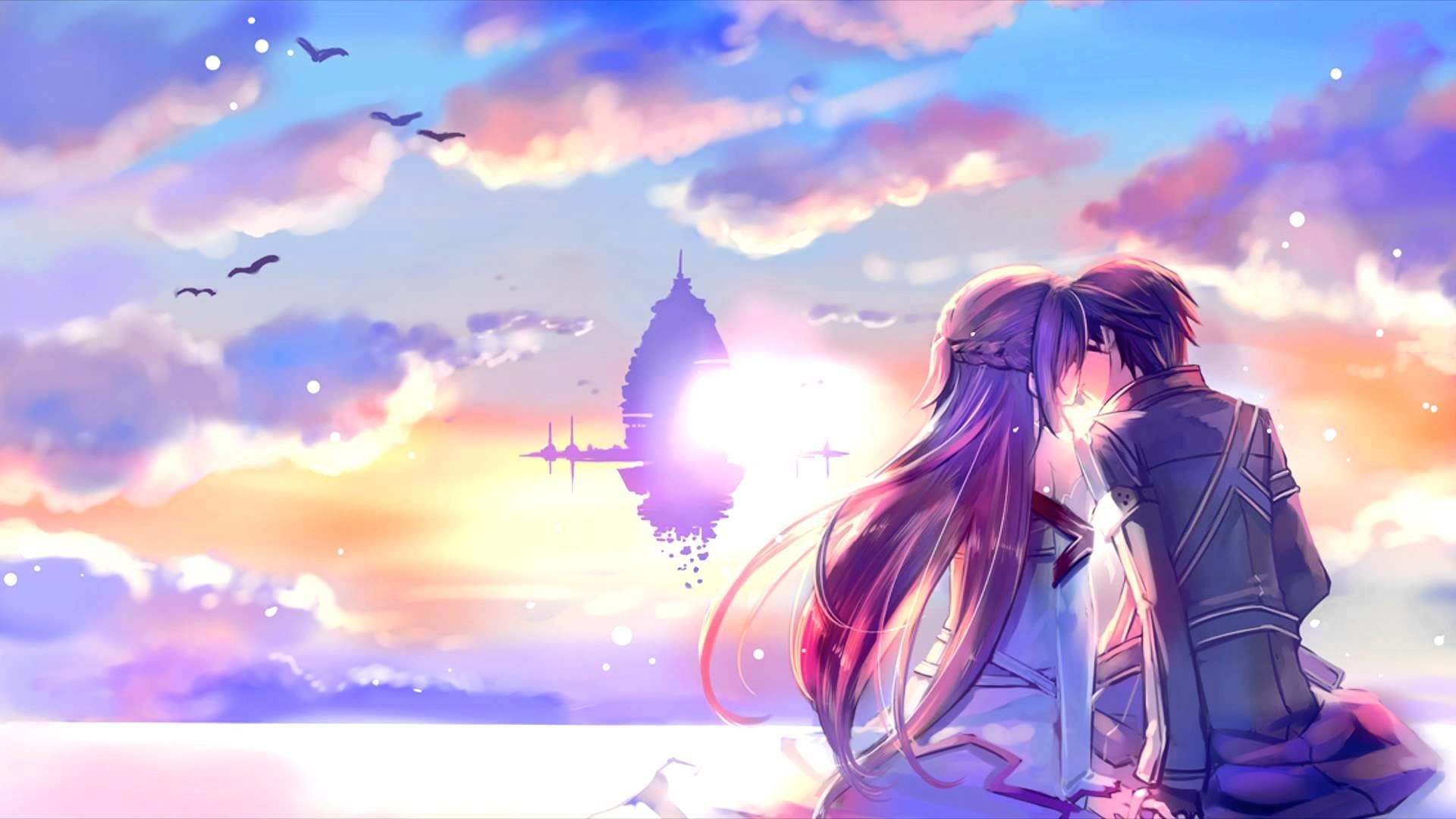 Res: 1920x1080, Romantic Asuna And Kirito Sword Art Online Wallpaper #2815 .