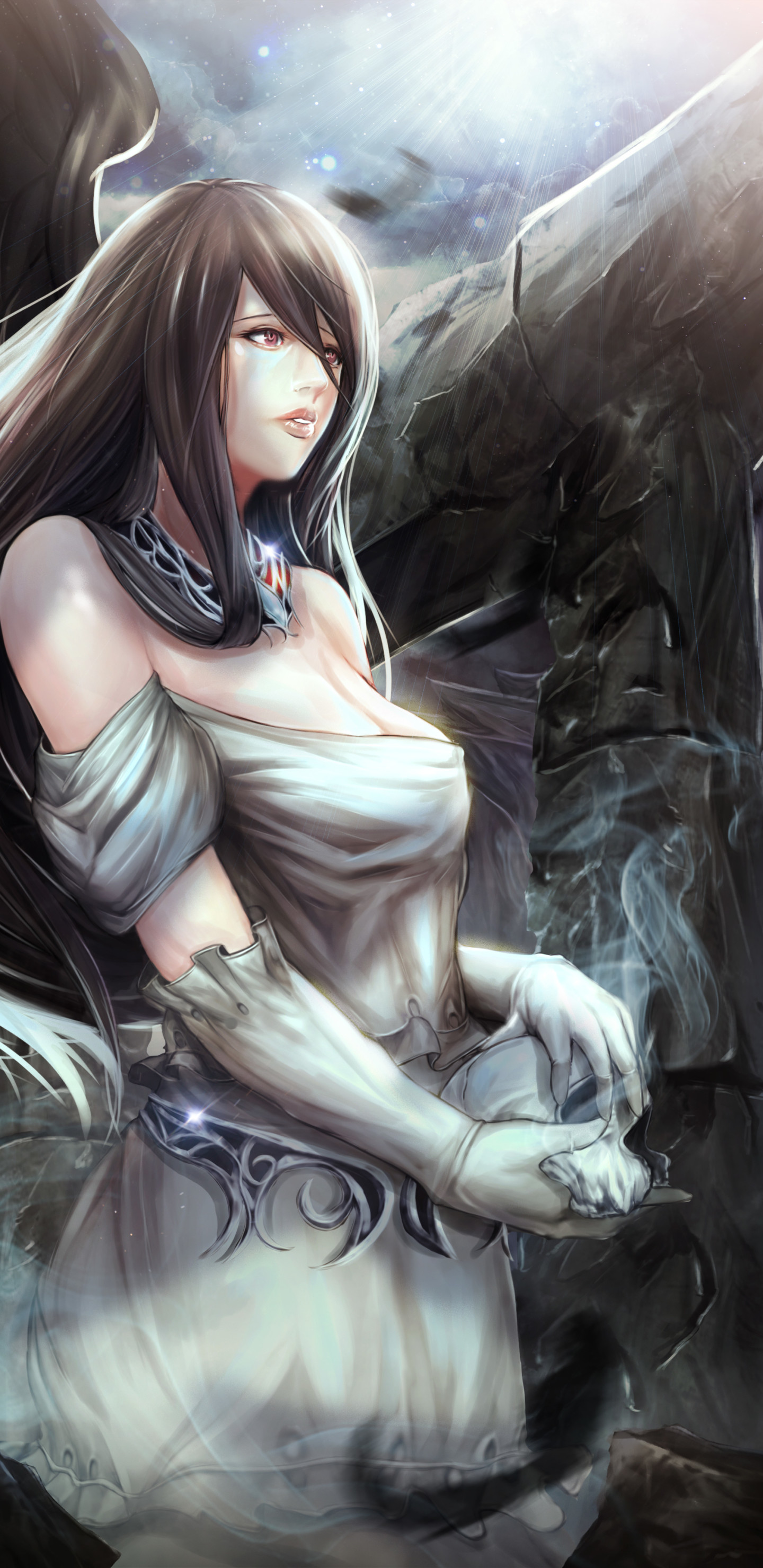 Res: 1440x2960, Albedo Anime / Overlord () Mobile Wallpaper