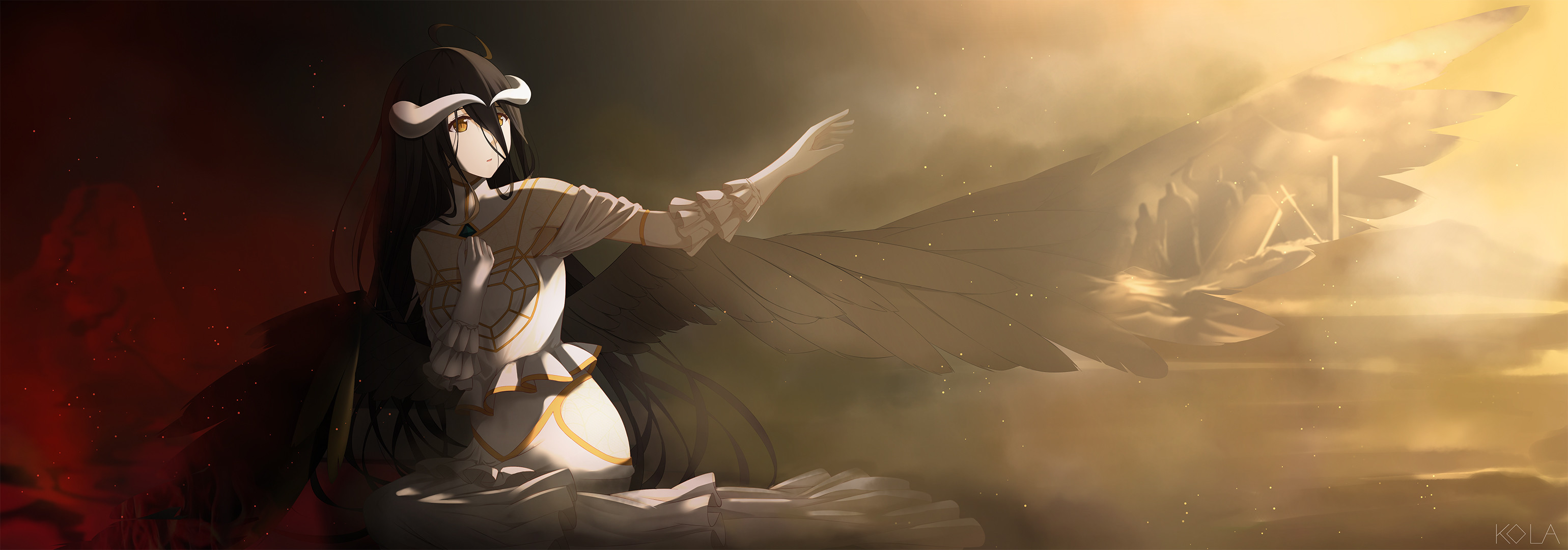 Res: 3080x1080, Albedo (Overlord) download Albedo (Overlord) image