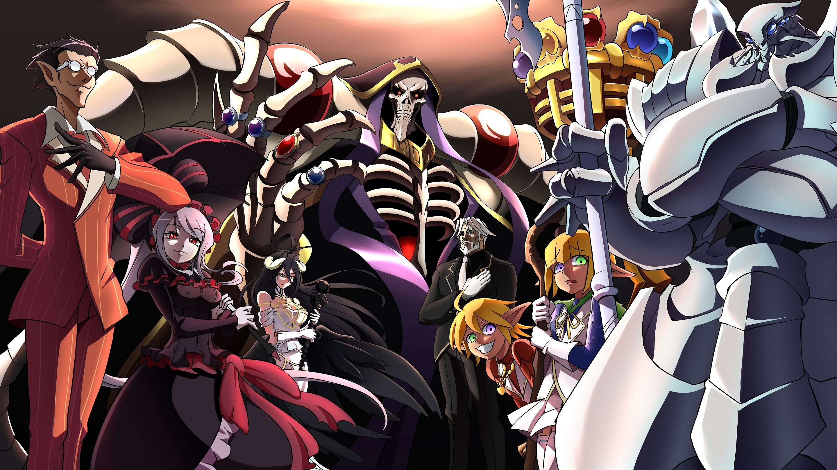 Res: 2880x1620, Anime - Overlord Overlord (Anime) Demiurge (Overlord) Shalltear Bloodfallen  Albedo (Overlord