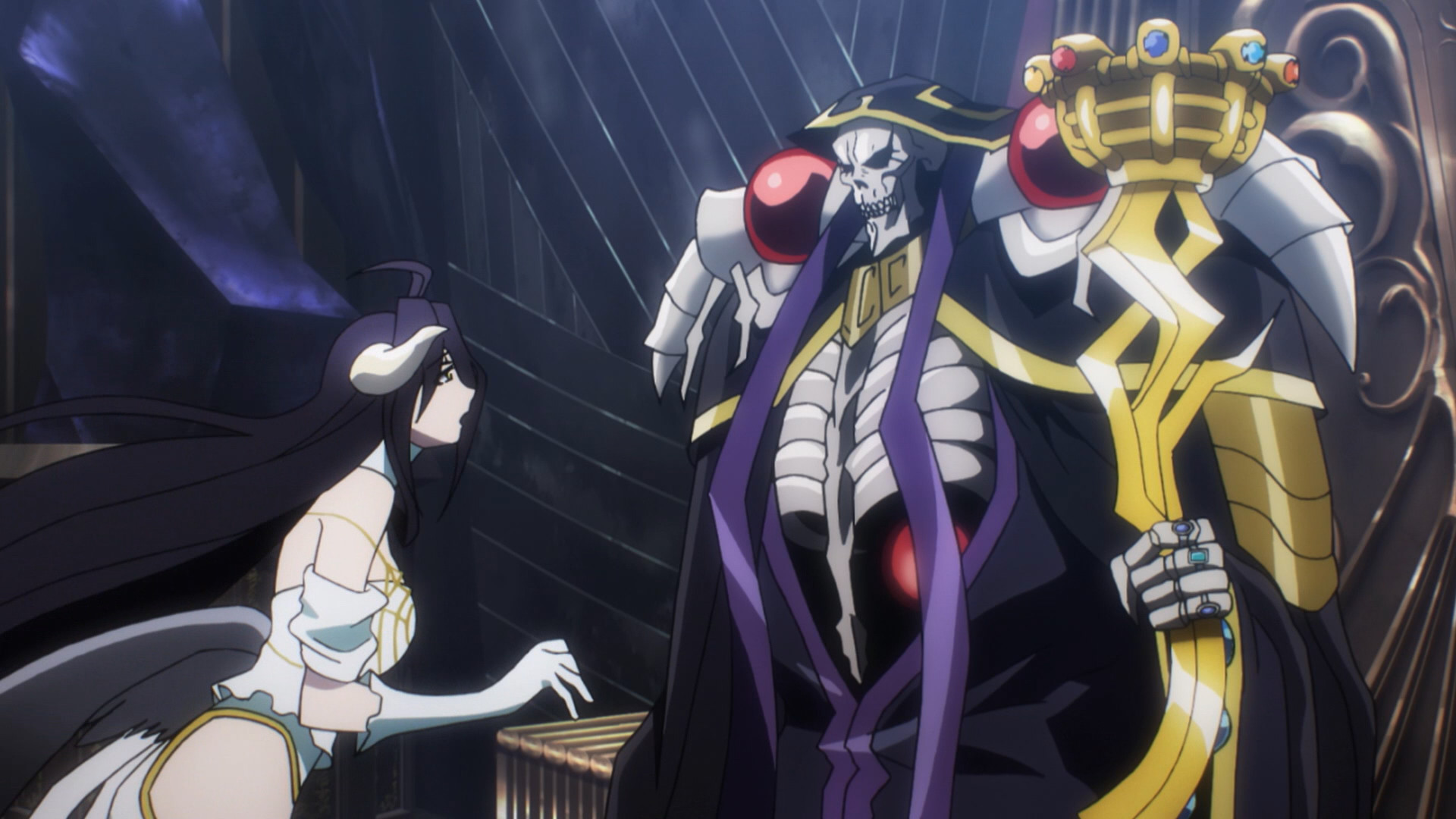 Res: 1920x1080, Albedo and Ainz Ooal Gown, Ainz Ooal Gown (Right) with Albedo (Left