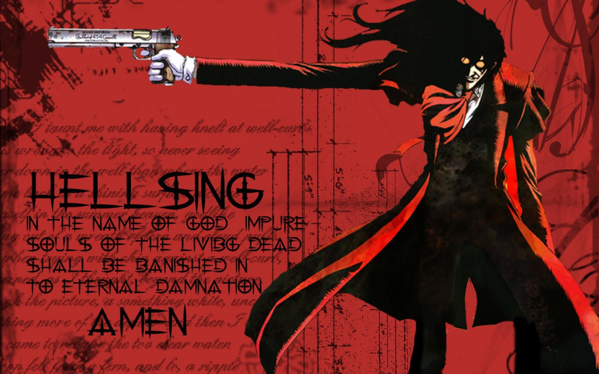 Res: 1920x1200, Hellsing Alucard Wallpaper