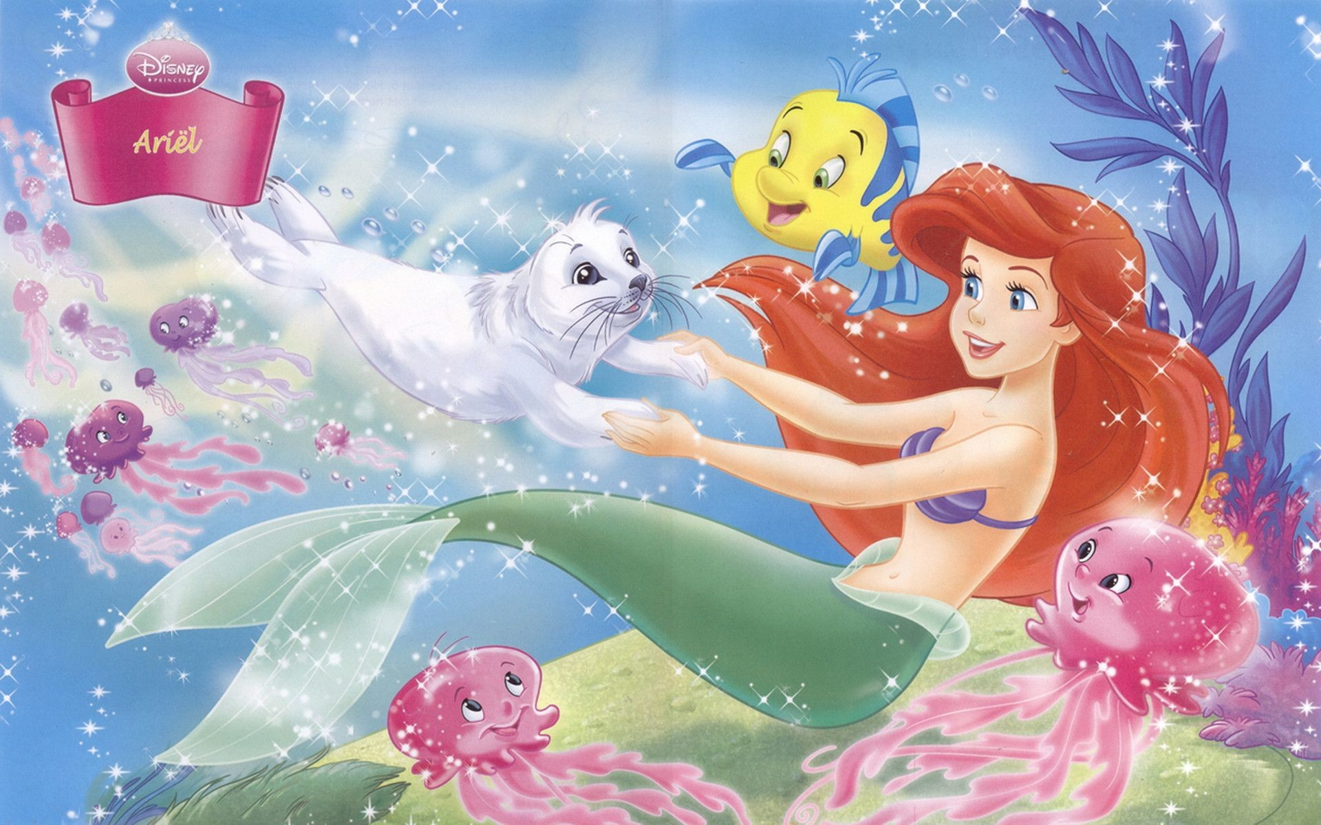 Res: 1920x1200, Disney Princess Ariel Background Wallpapers 07803