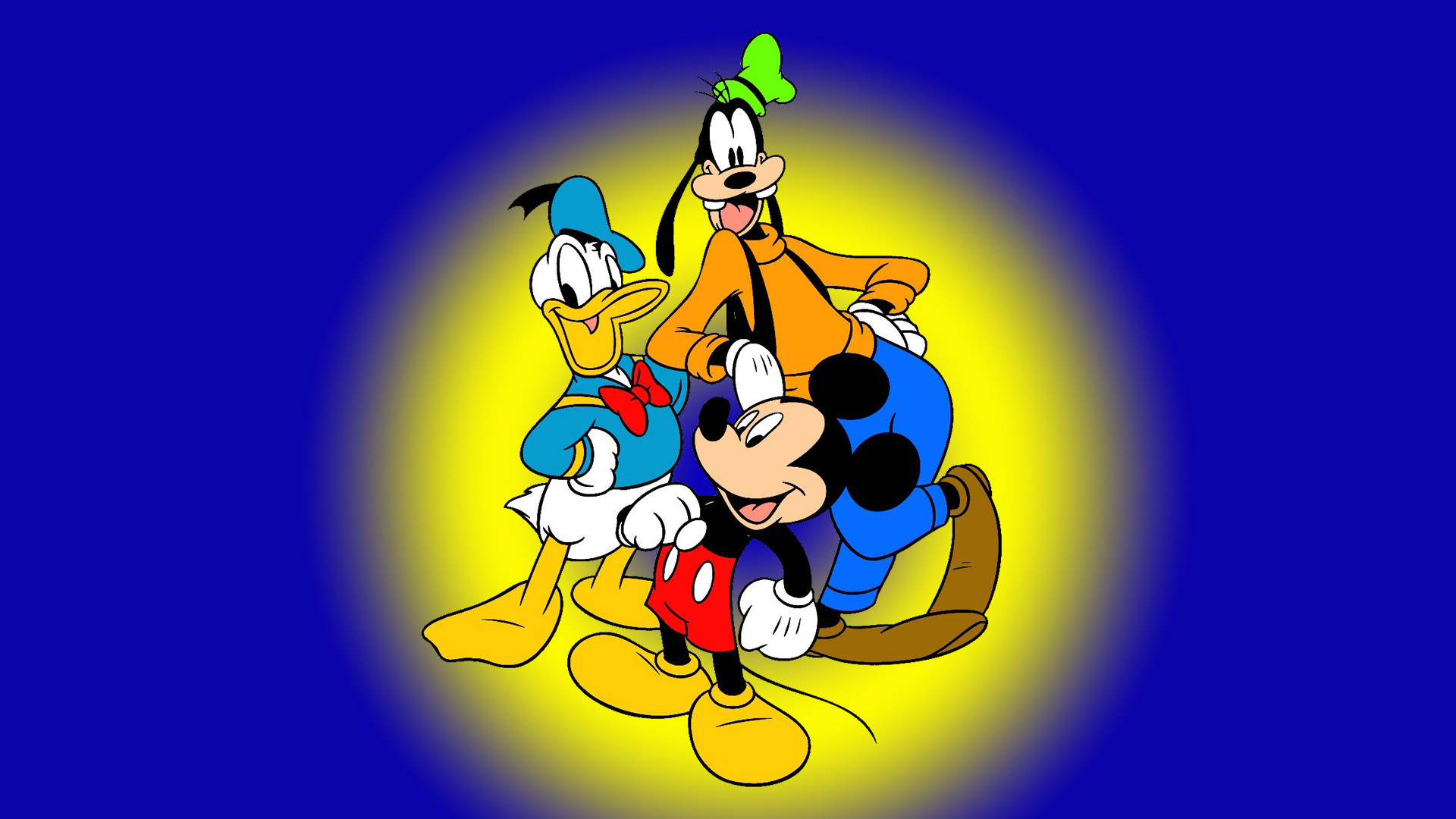 Res: 1920x1080, Goofy Mickey Mouse And Donald Duck Famous Characters Walt Disney Hd  Wallpaper 1920×1080