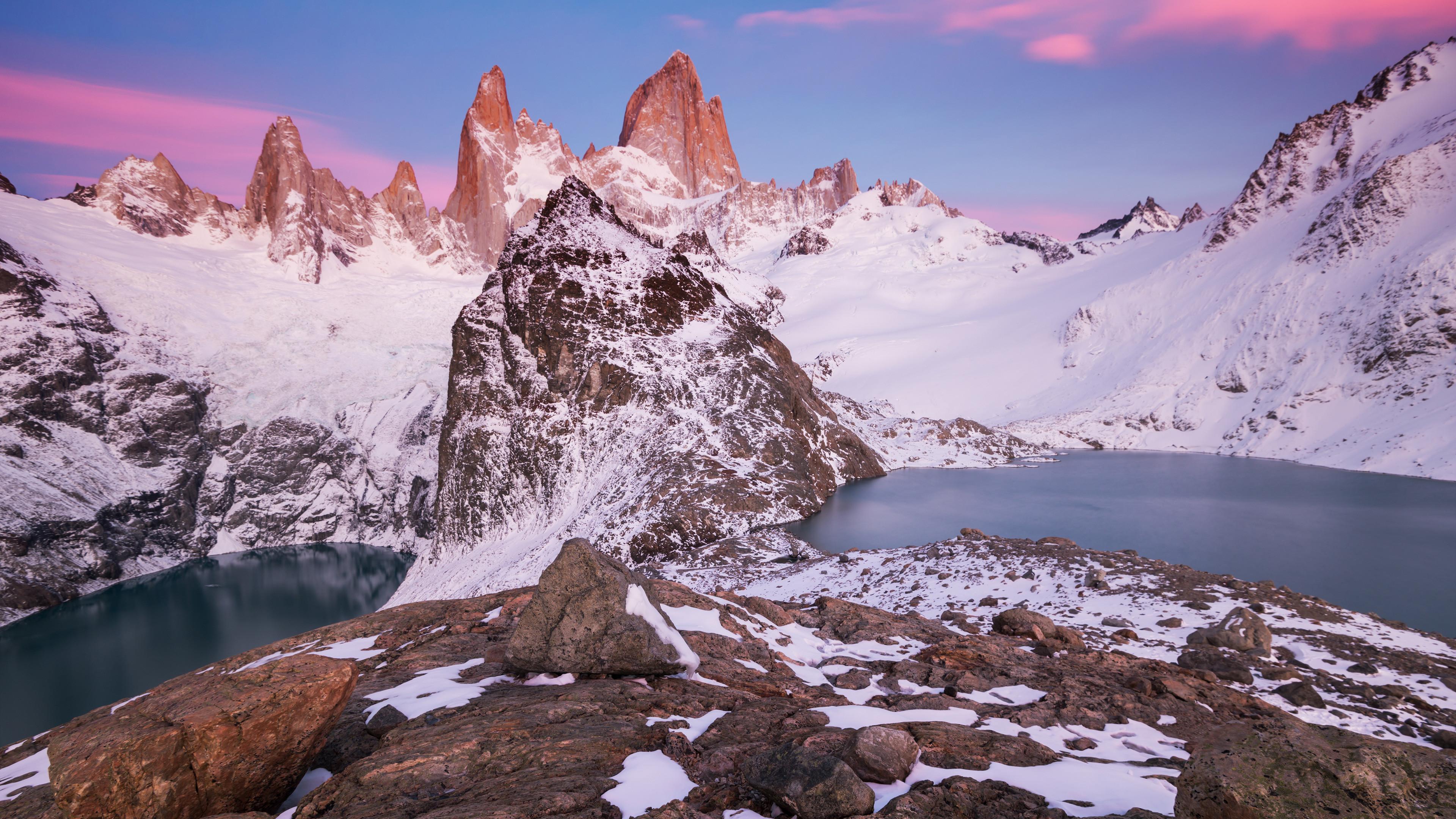 Res: 3840x2160, Snowy Mountains 4k
