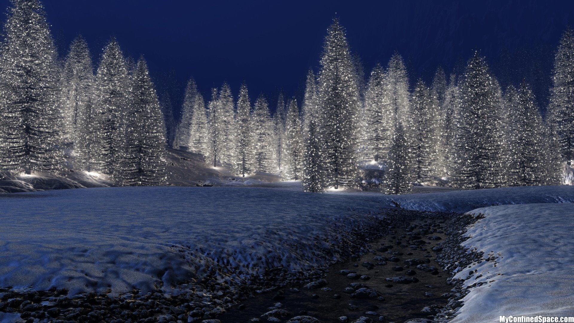 Res: 1920x1080, Snowy-Christmas-Scene-Wallpaper-.jpg (469 KB)
