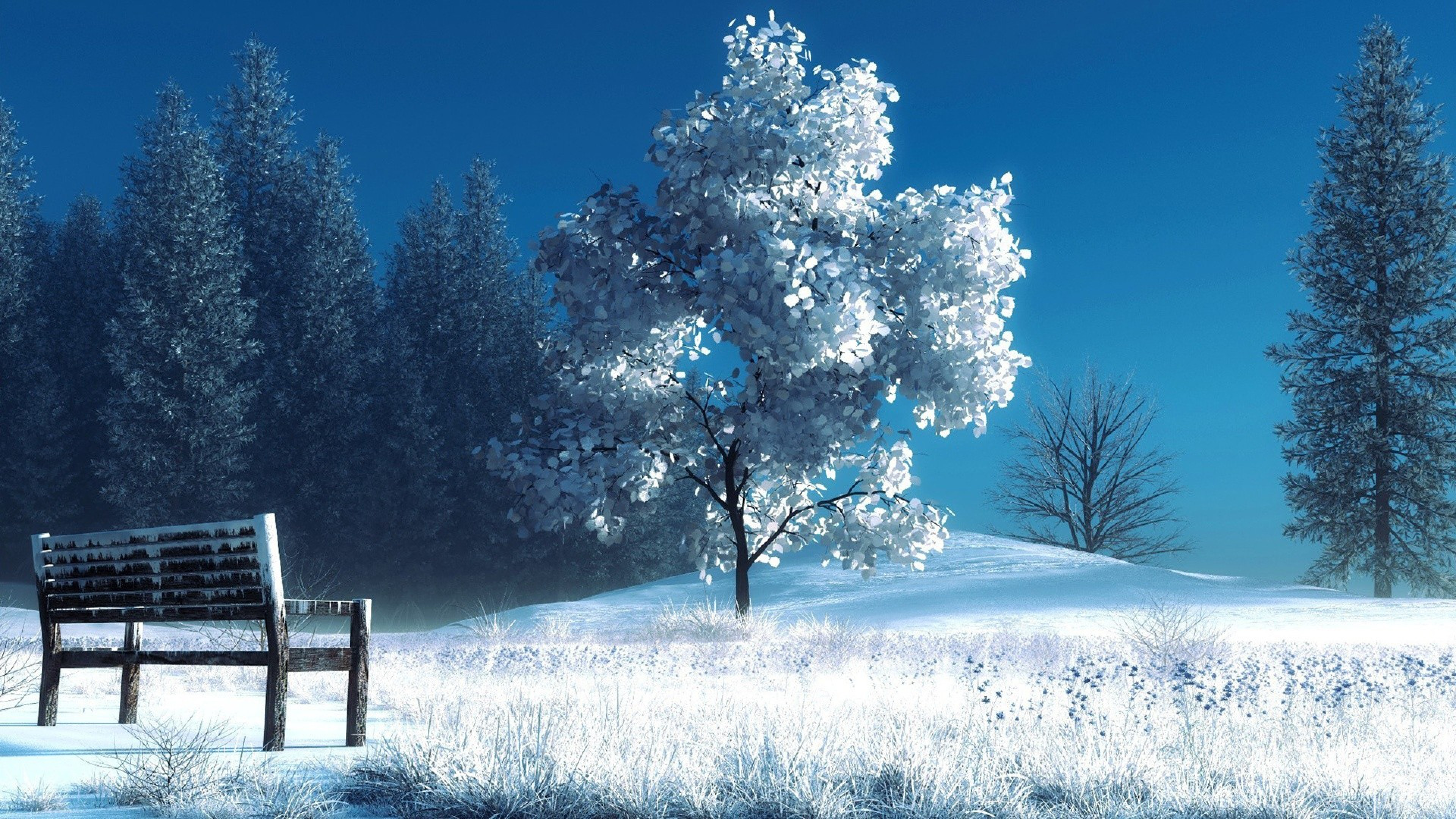 Res: 3840x2160, Free Awesome Snowy Images