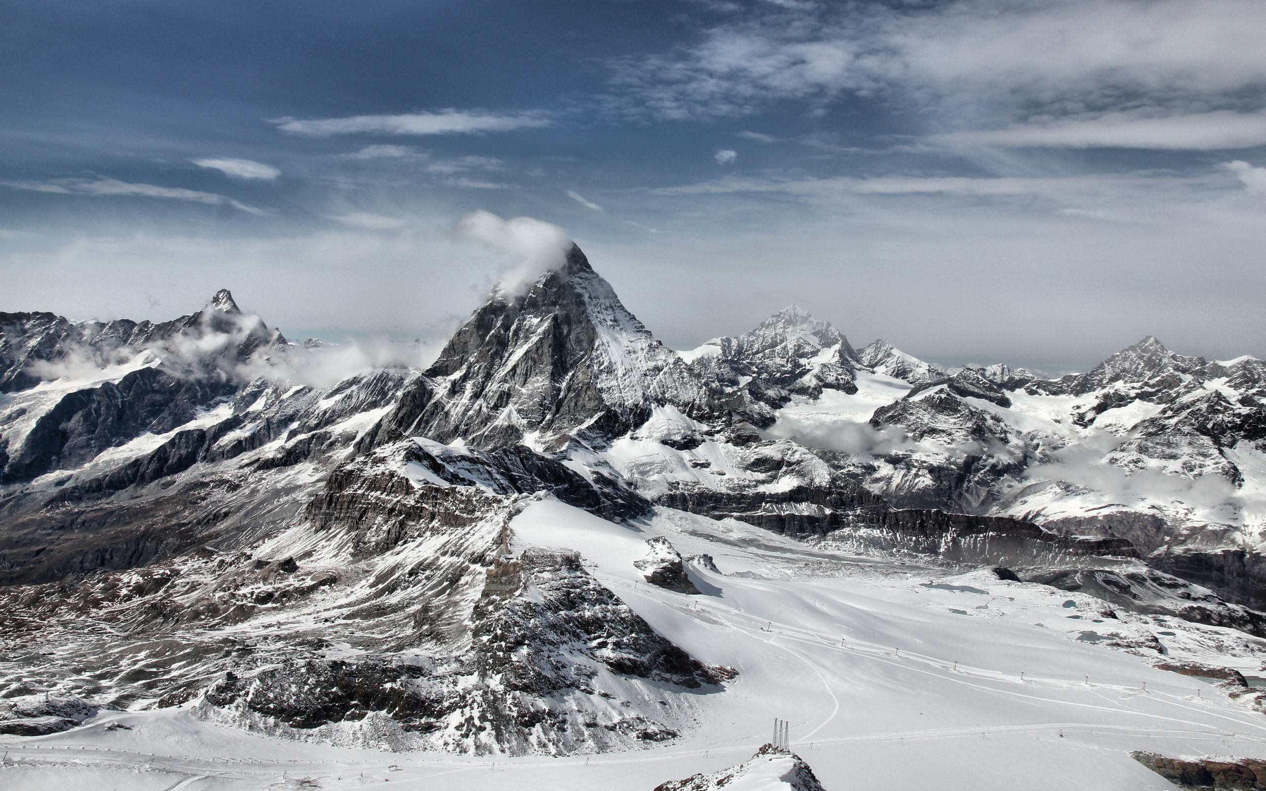 Res: 2560x1600, Mountains Snowy Wallpaper Free Download.