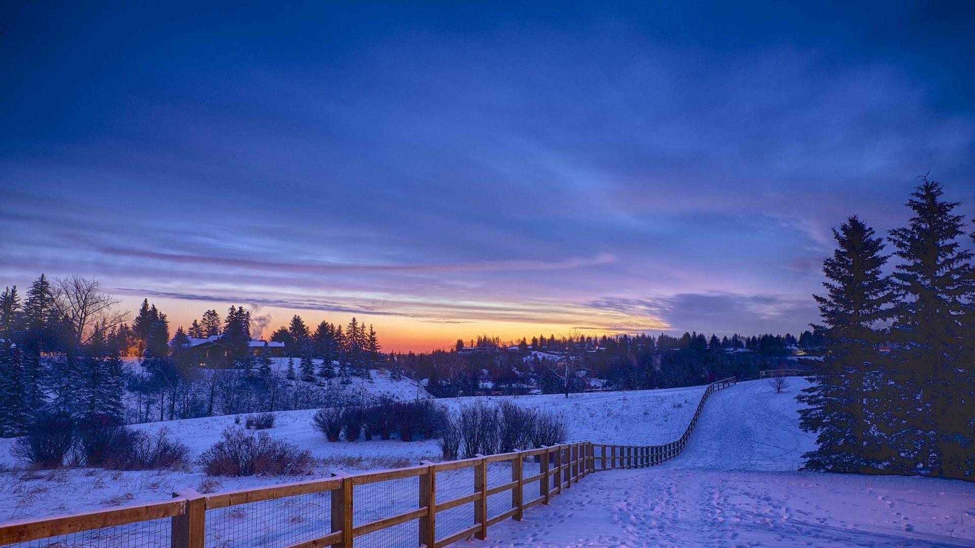Res: 1920x1080, Snowy Landscape Wallpaper