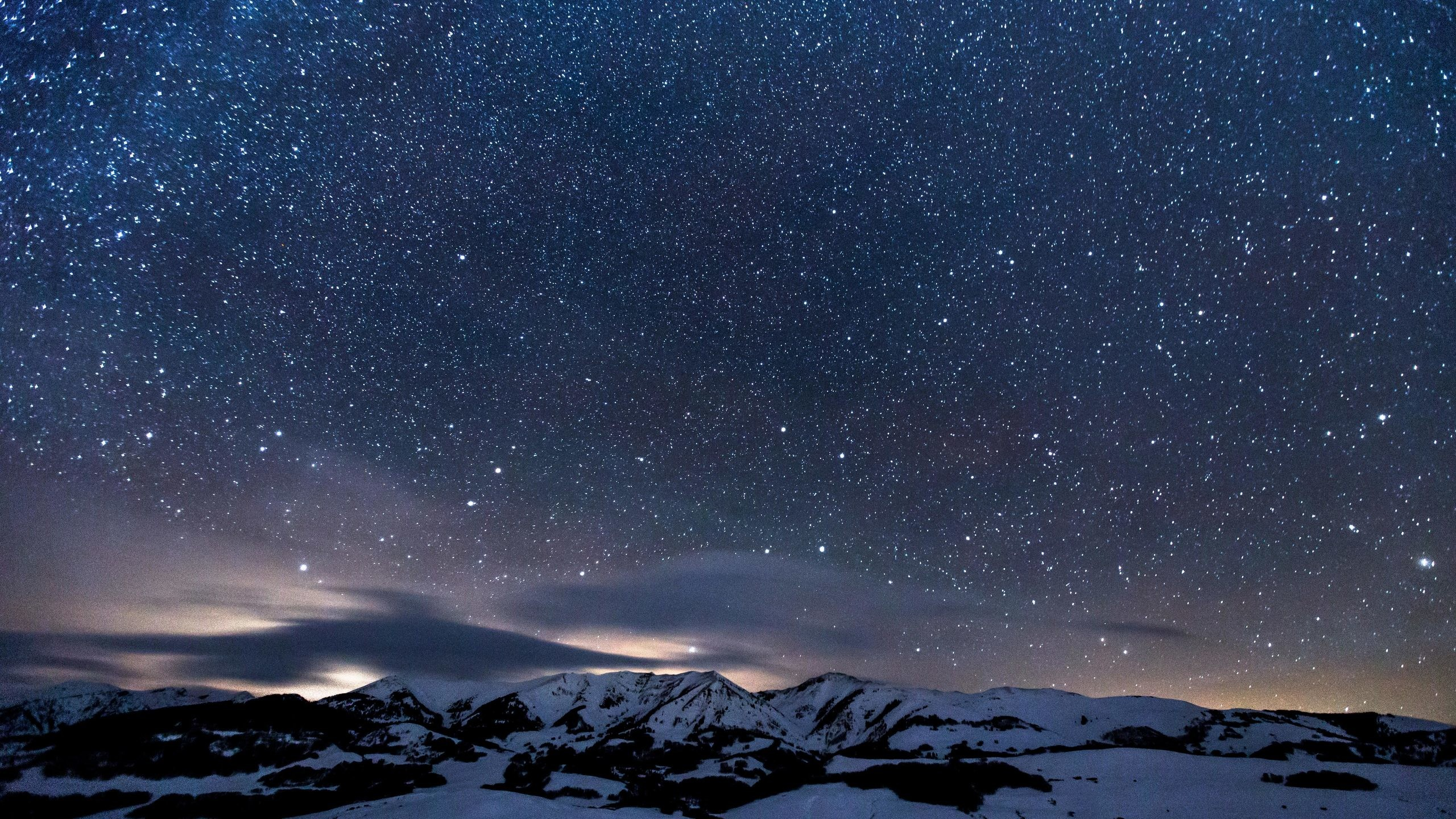 Res: 2560x1440, sky-full-of-stars-snowy-mountains-5k-s6.