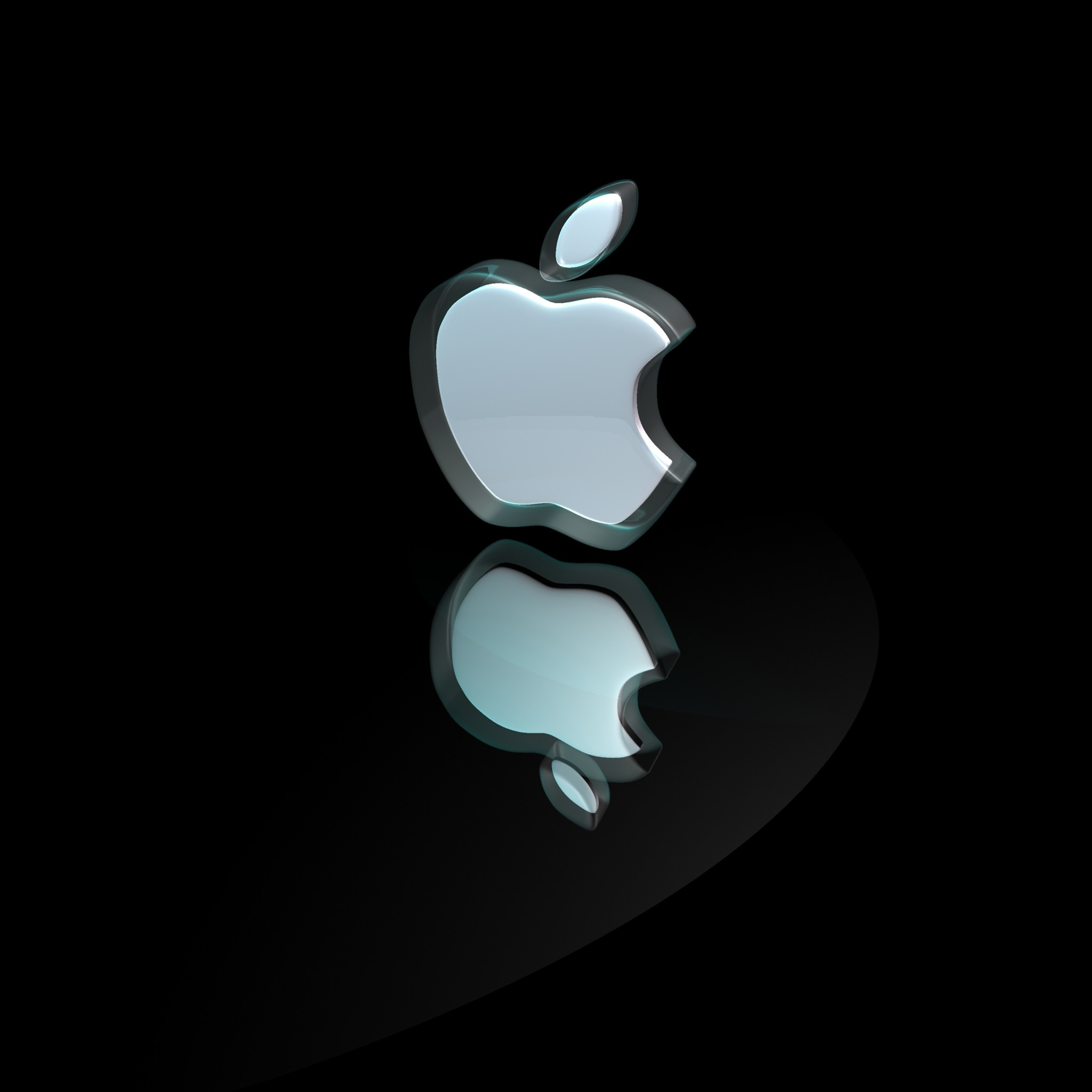 Res: 2048x2048, ... 3D Apple Logo iPad Air wallpaper.